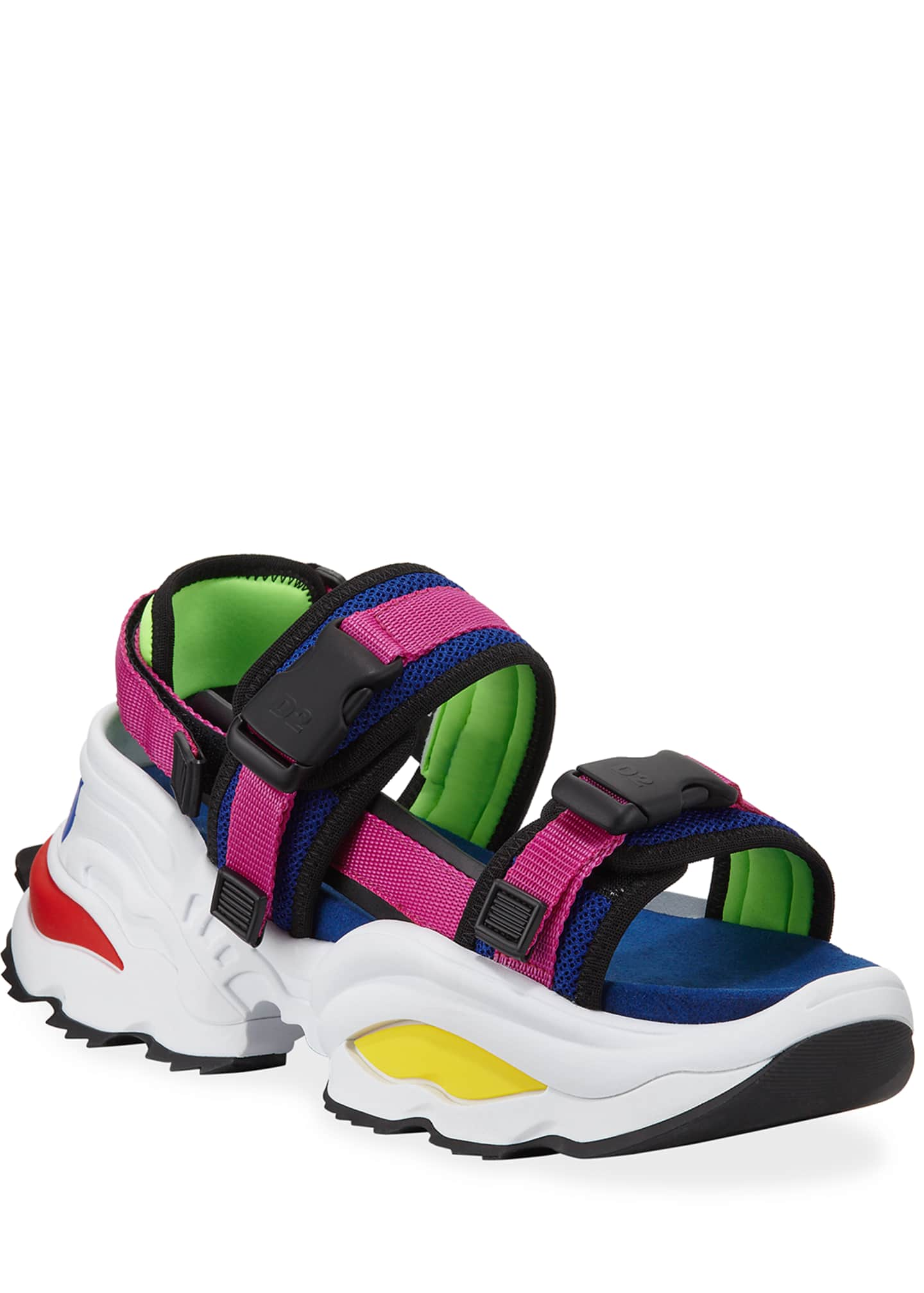Dsquared2 Men's Chunky Colorblock Platform Sandals