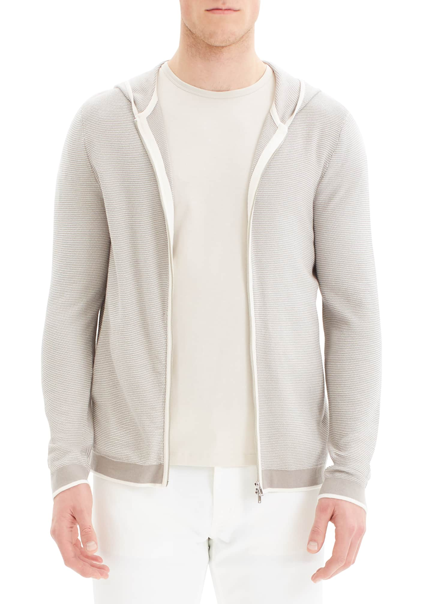 Theory Men's Braghe Nilos Zip-Front Hoodie