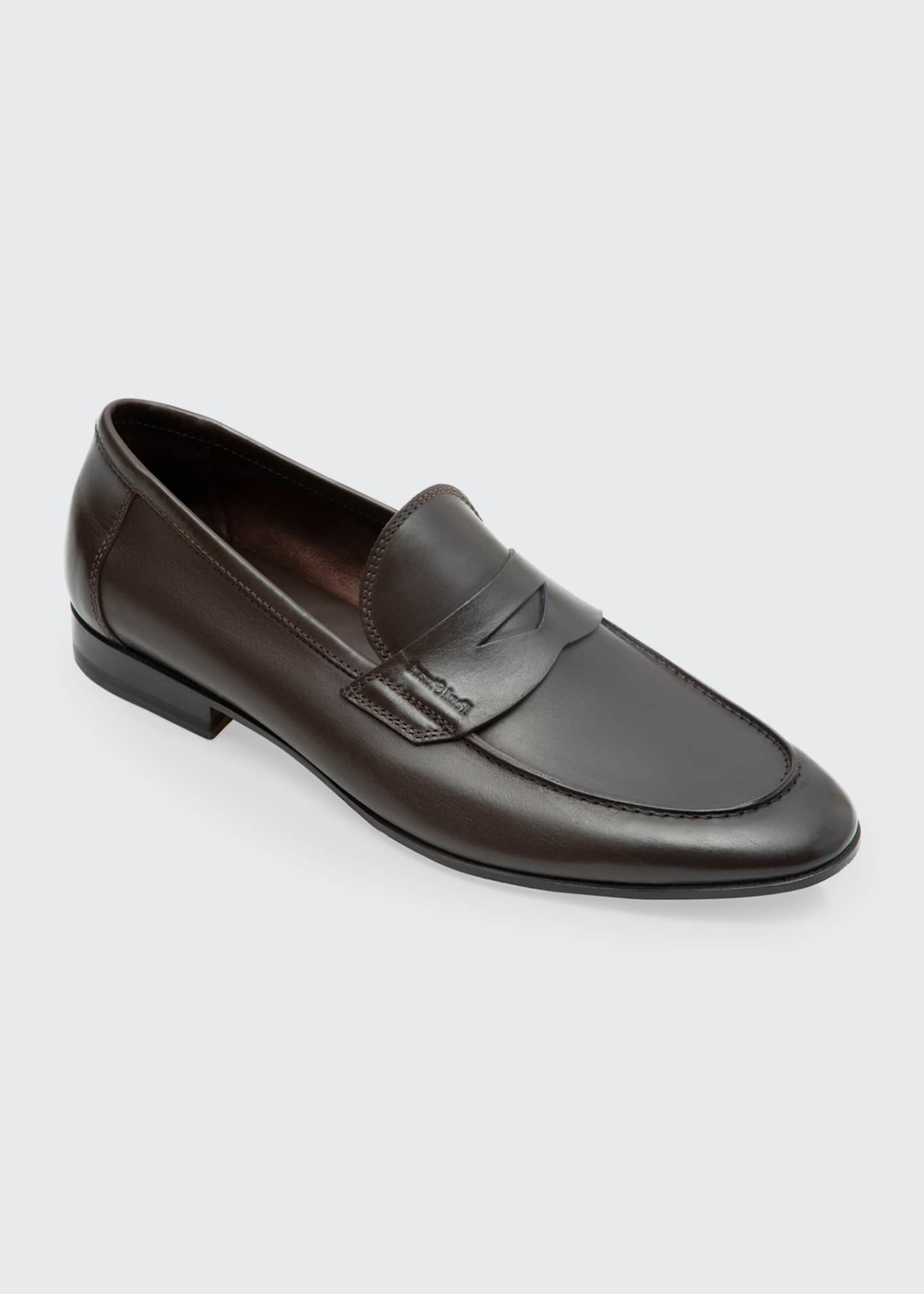 Image 2 of 2: Men's Harlan Leather Penny Loafers