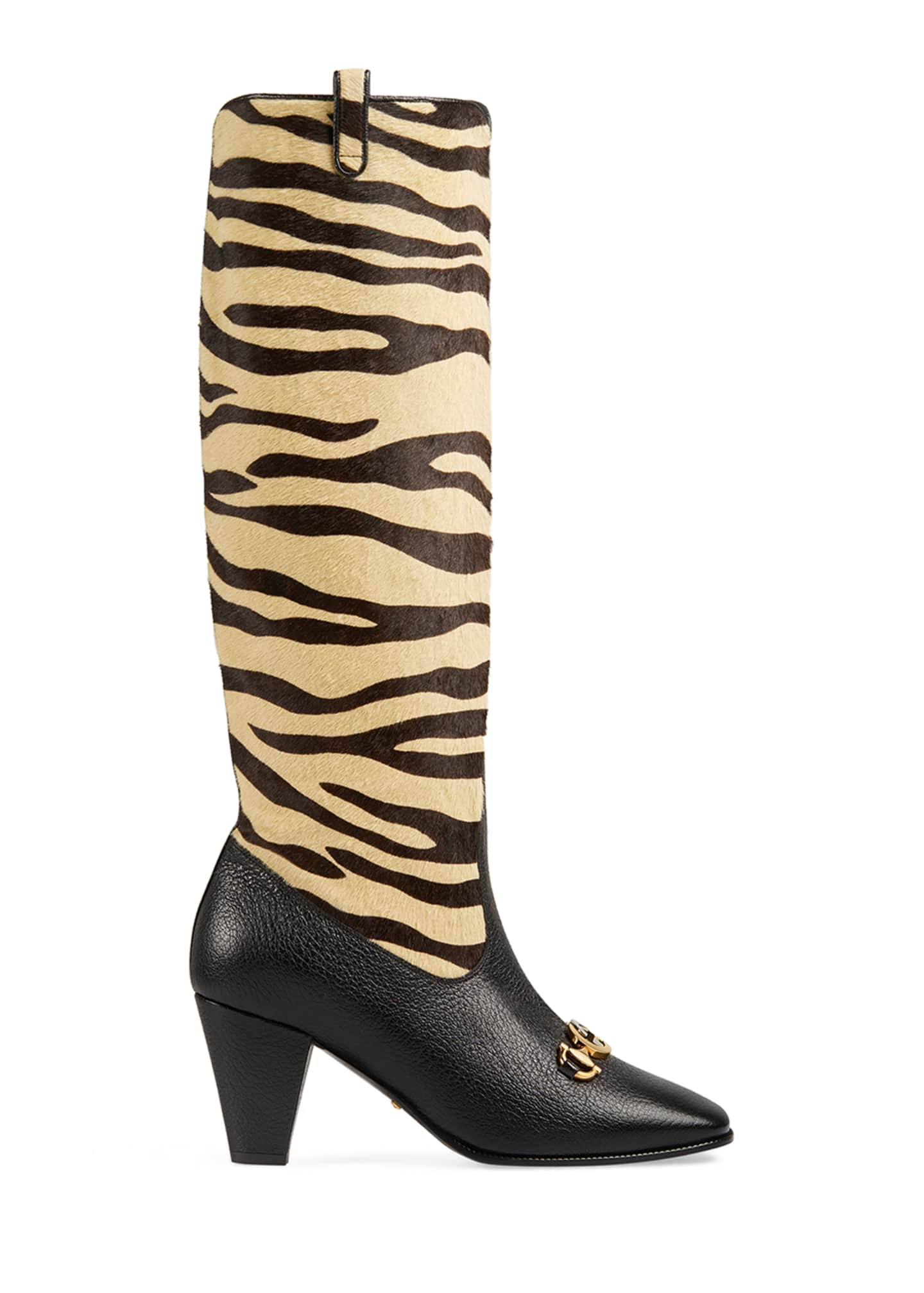Image 2 of 4: Zumi Tiger-Print Knee Boots