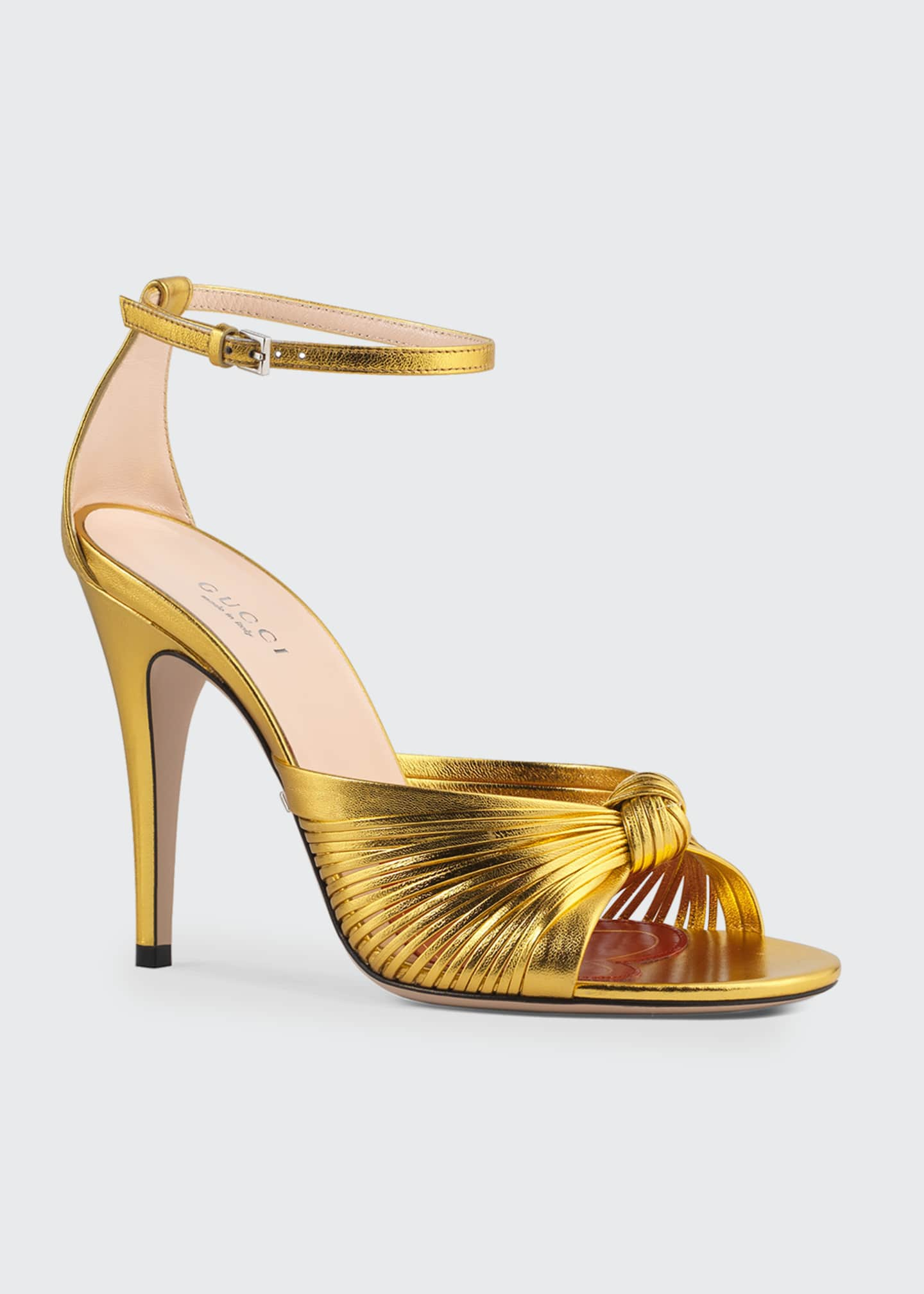 Image 2 of 3: Crawford Metallic Leather Sandals