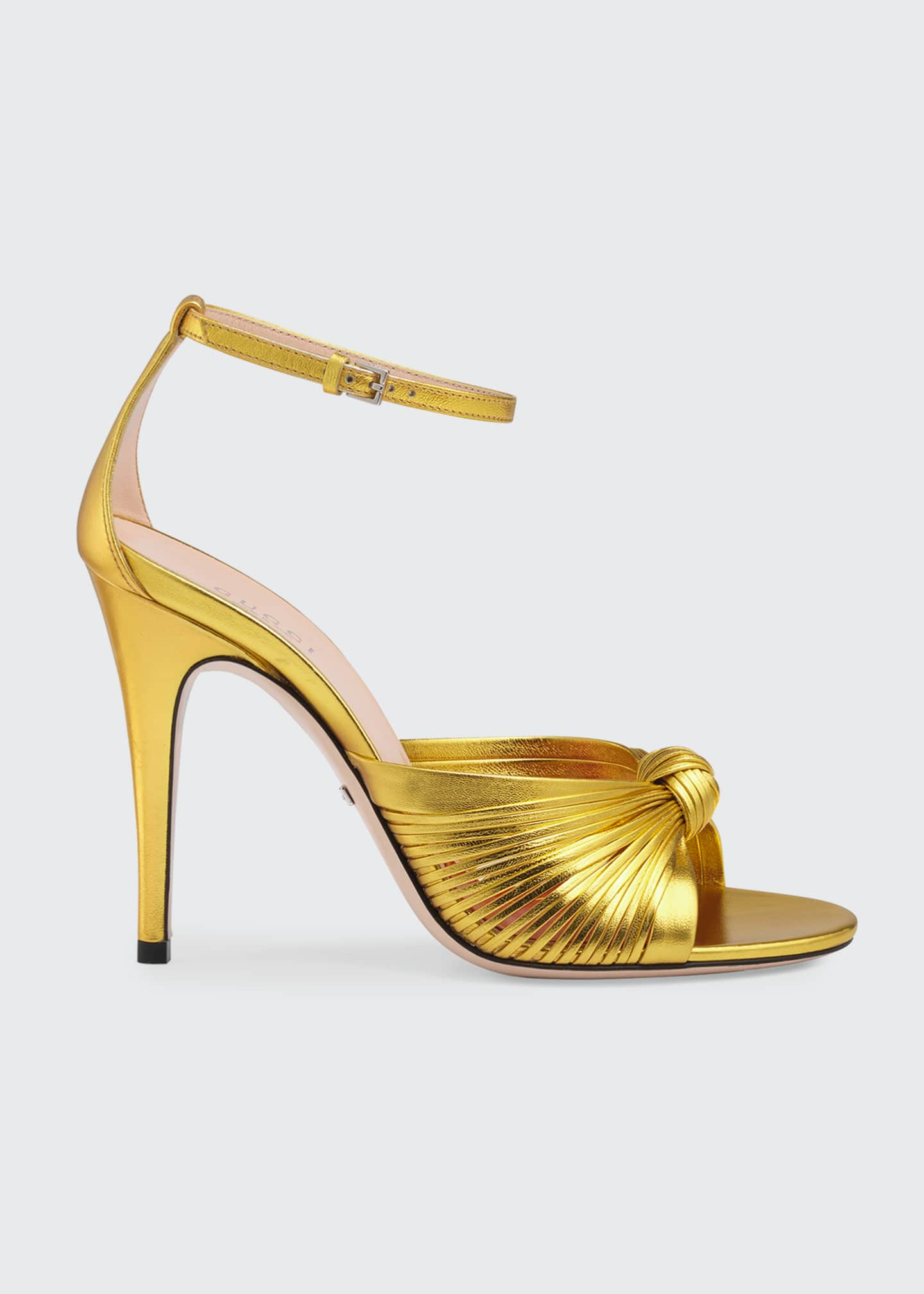 Image 1 of 3: Crawford Metallic Leather Sandals