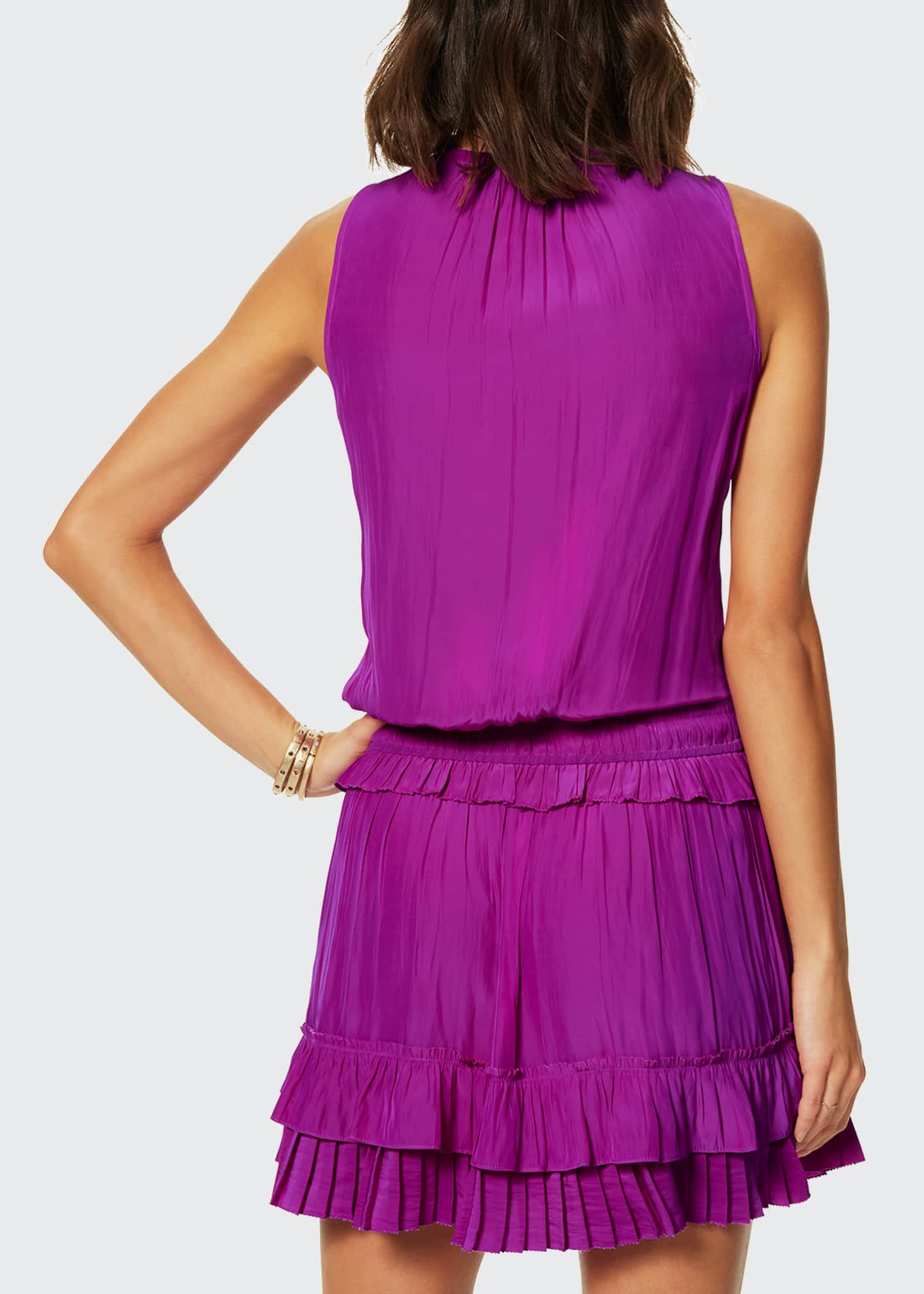 Image 2 of 2: Hadley Pleated Sleeveless Short Dress