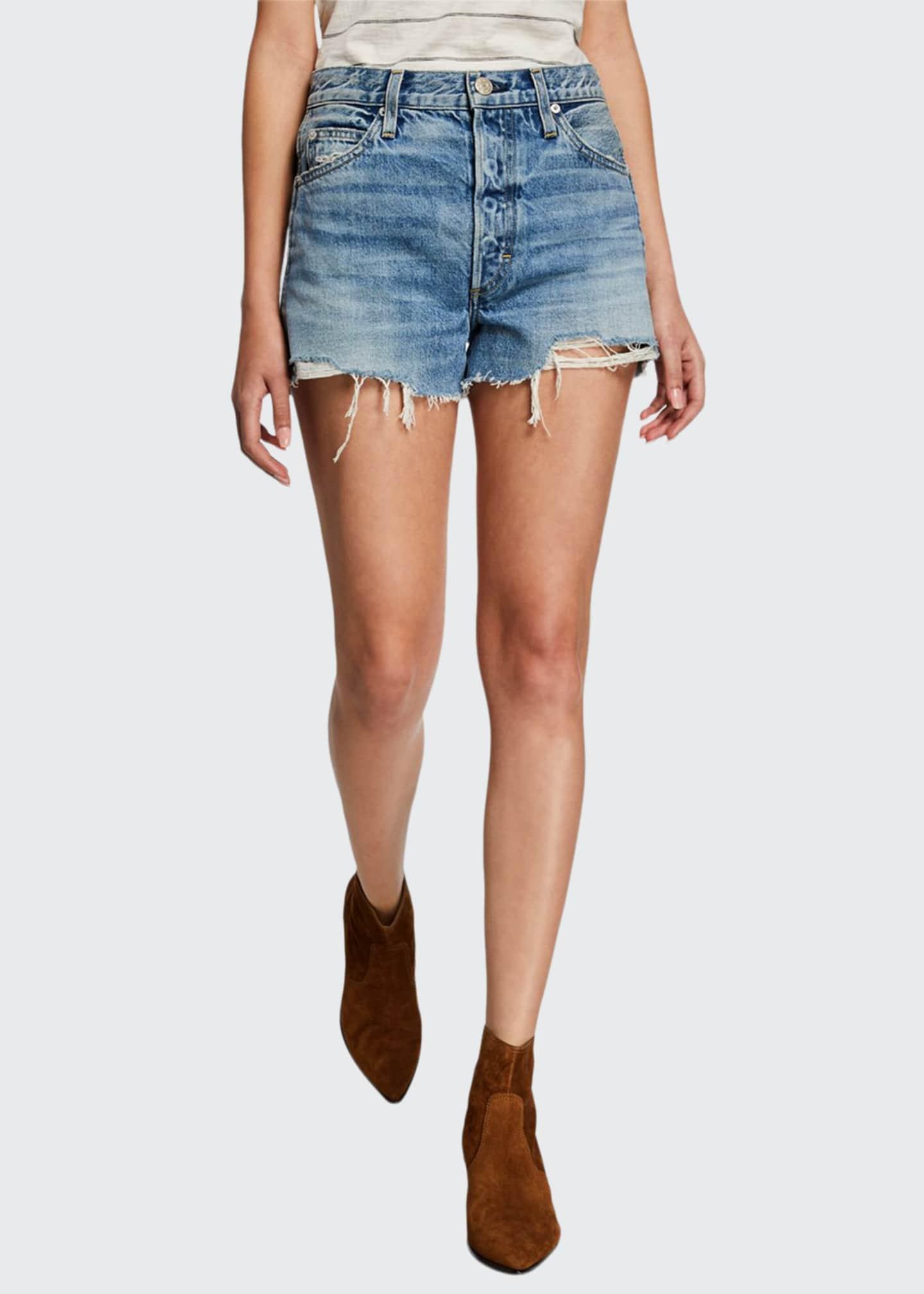 AMO Denim Loverboy High-Rise Cutoff Shorts
