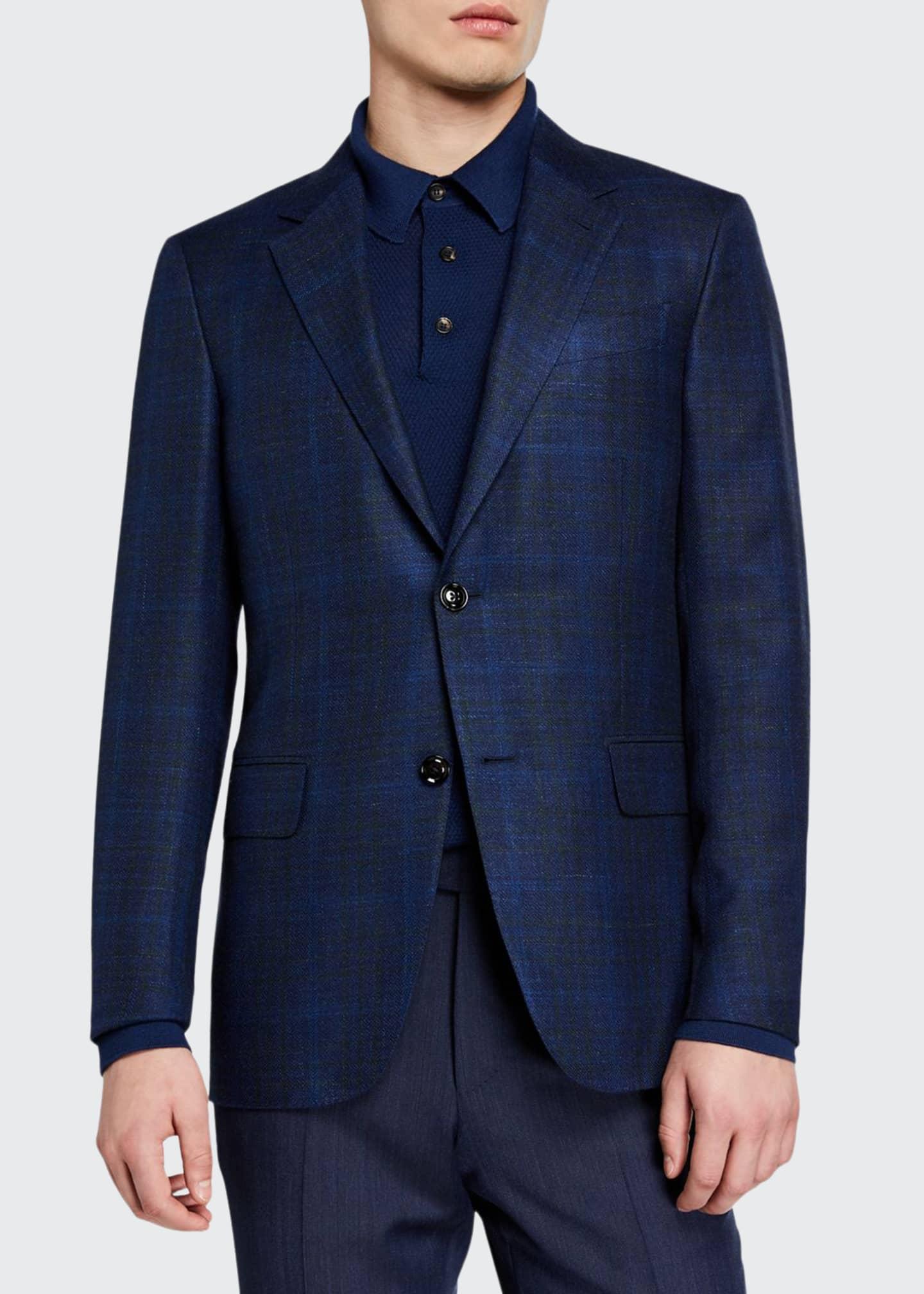 Ermenegildo Zegna Men's Cashmere Plaid Sport Coat