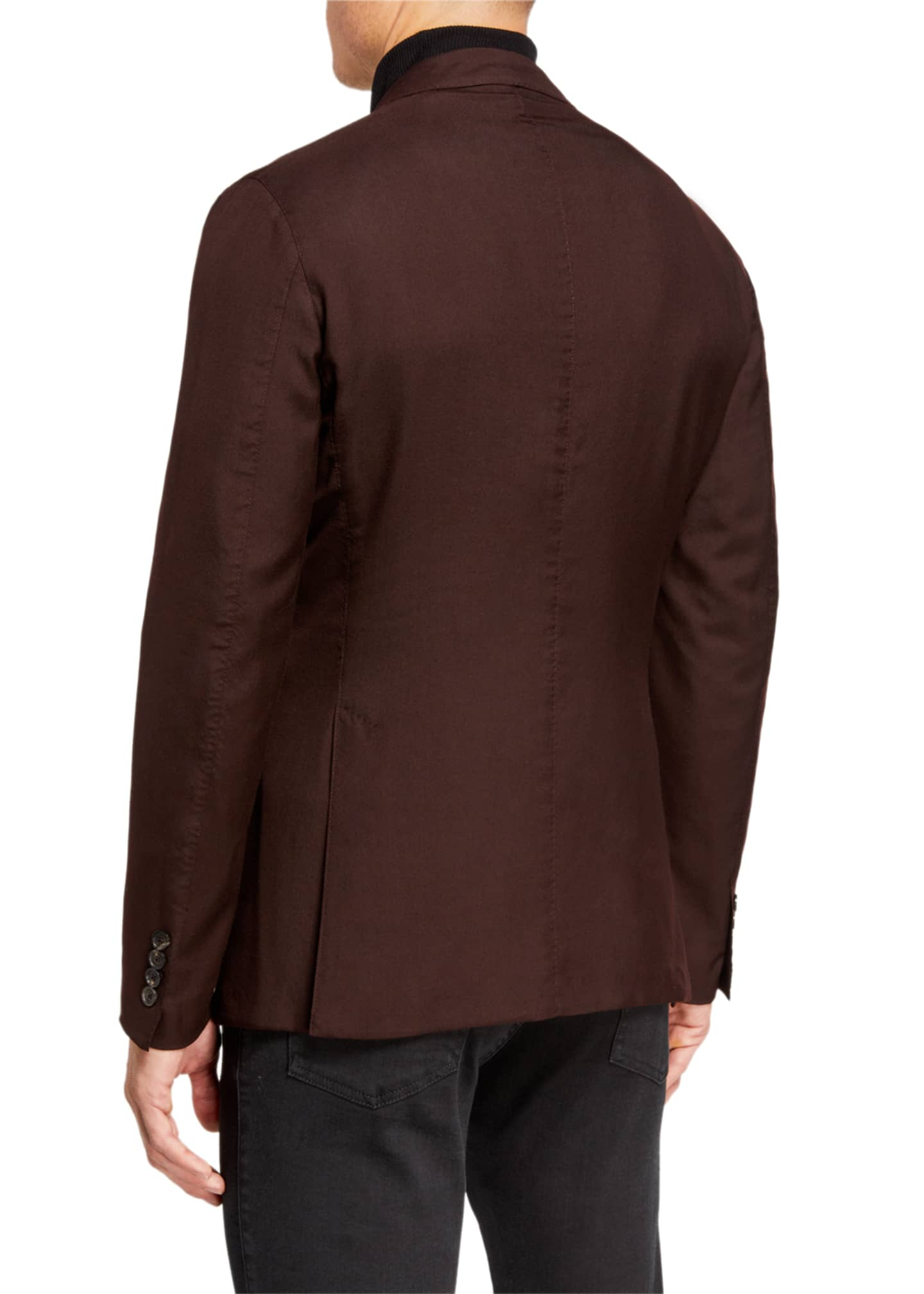 Image 2 of 3: Men's Cashmere/Silk Two-Button Regular-Fit Jacket