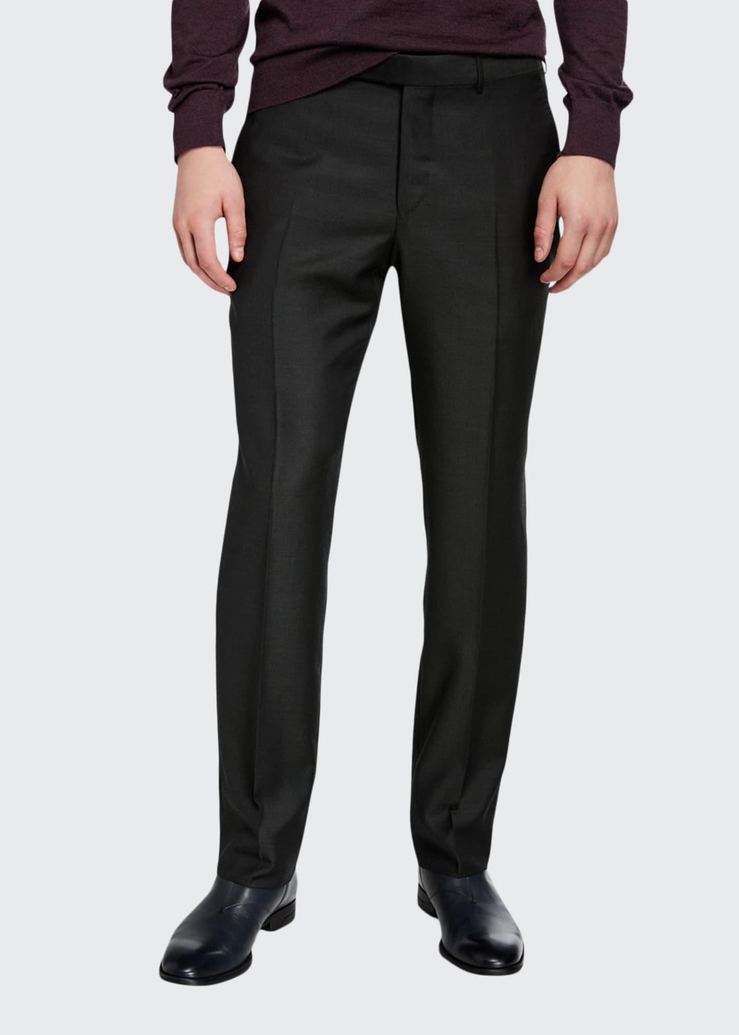 Ermenegildo Zegna Men's Loden Achill Twill Trousers