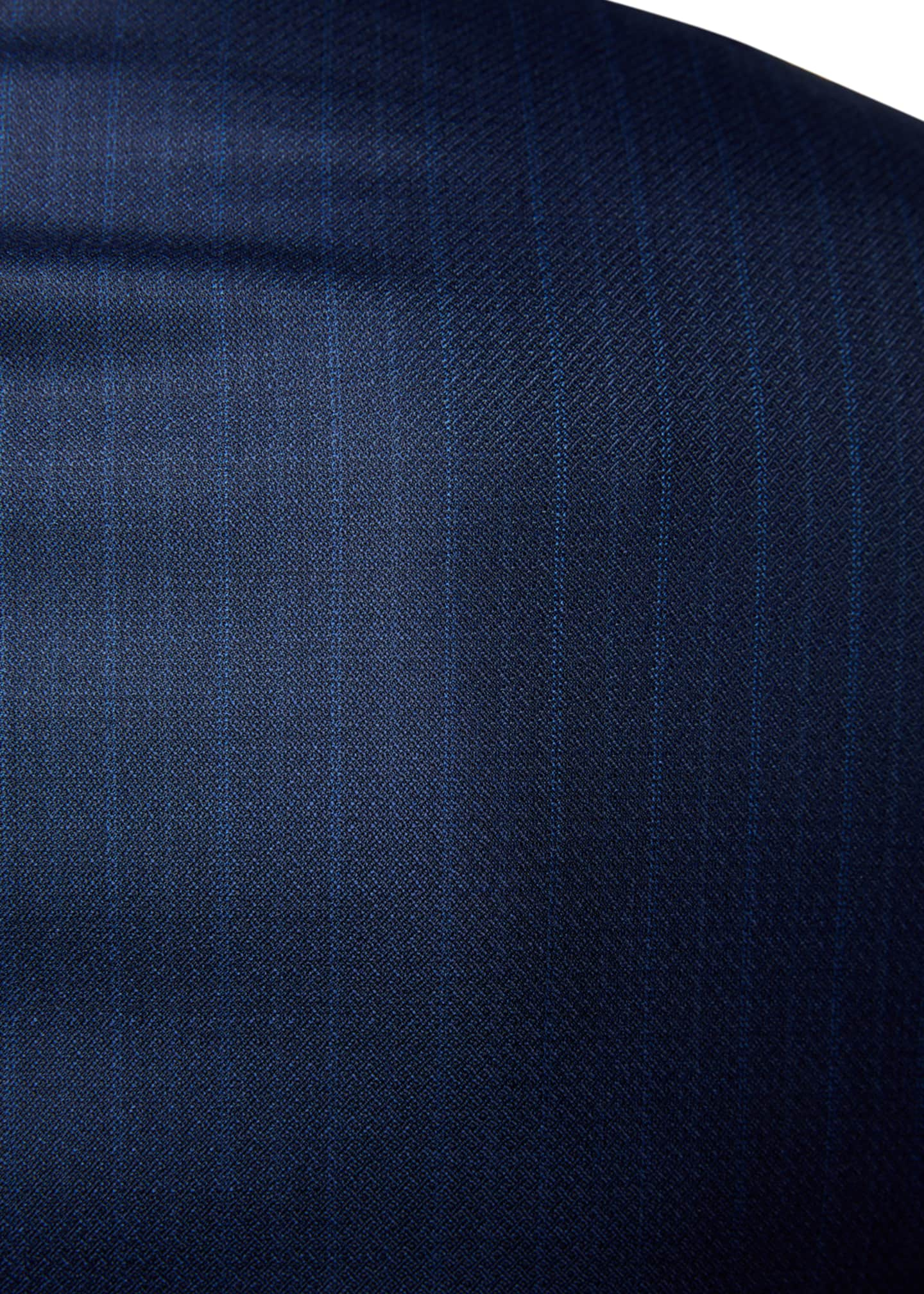 Image 4 of 4: Men's Regular-Fit Textured Stripe Two-Piece Suit