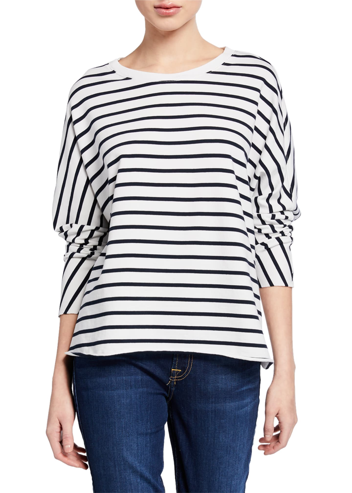 Frank & Eileen Tee Lab Striped Oversized Continuous-Sleeve
