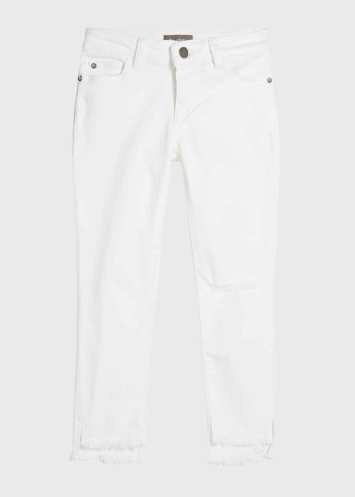 DL1961 Premium Denim Girls' Chloe Skinny Raw-Hem Jeans,
