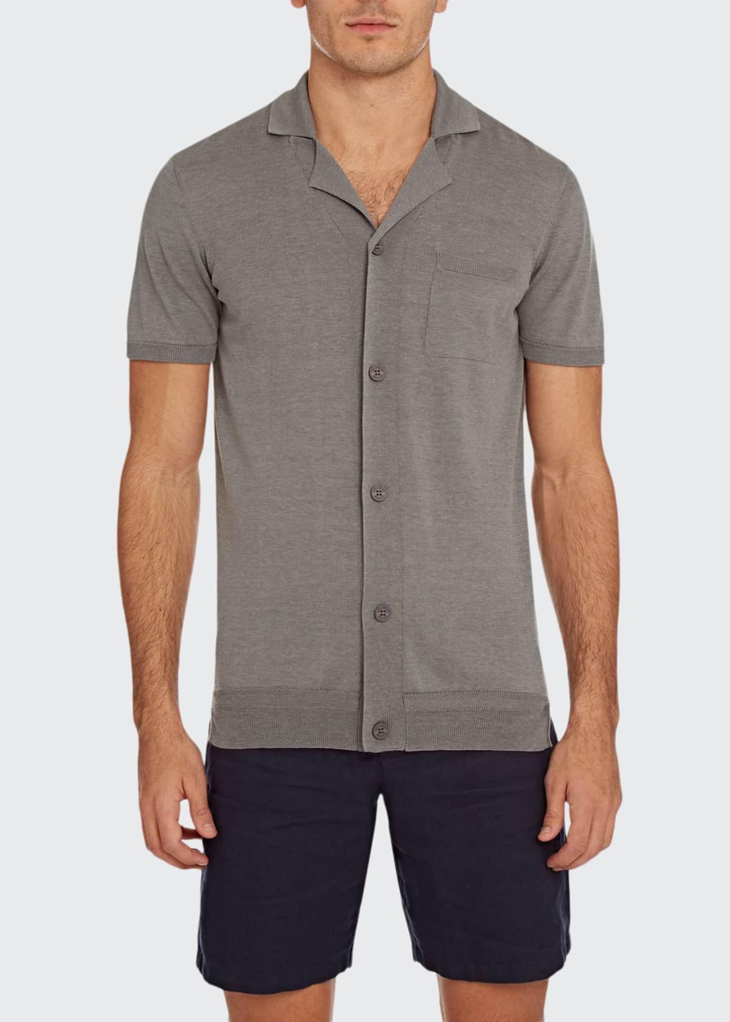 Orlebar Brown Men's Colman Cotton/Silk Button-Down Shirt