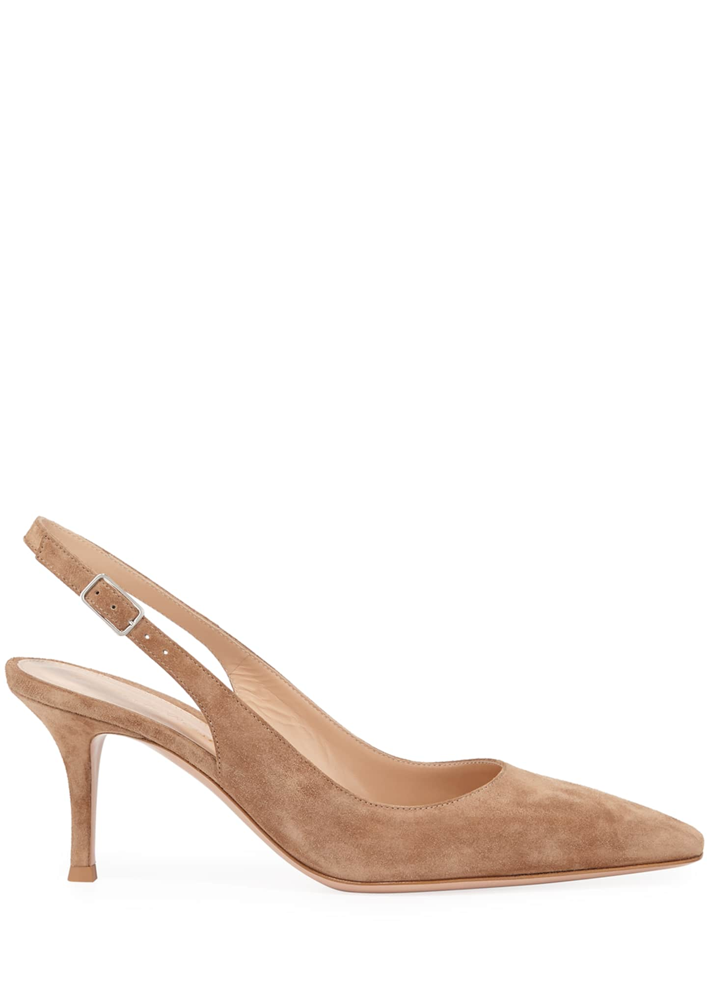 Image 2 of 3: Suede Slingback Mule Pumps