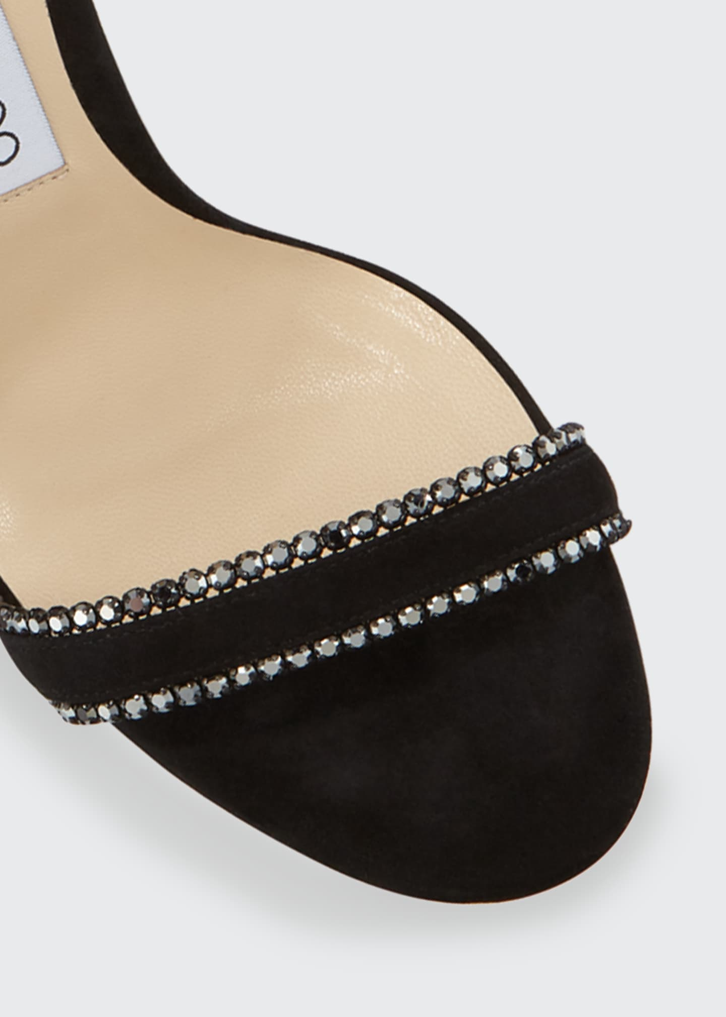 Image 3 of 3: Dochas Jeweled Ankle-Strap Sandals