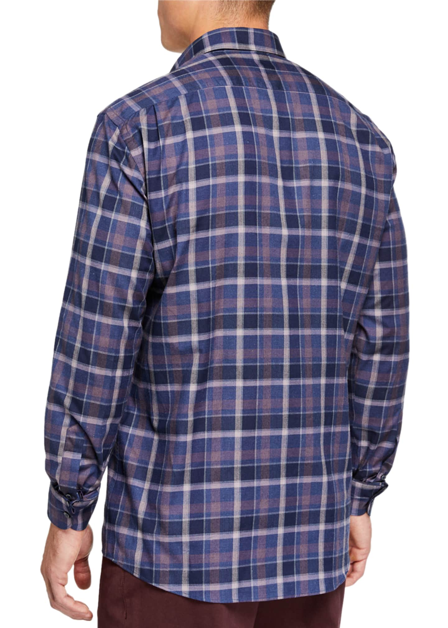 Image 2 of 2: Men's Large Plaid Regular-Fit Sport Shirt