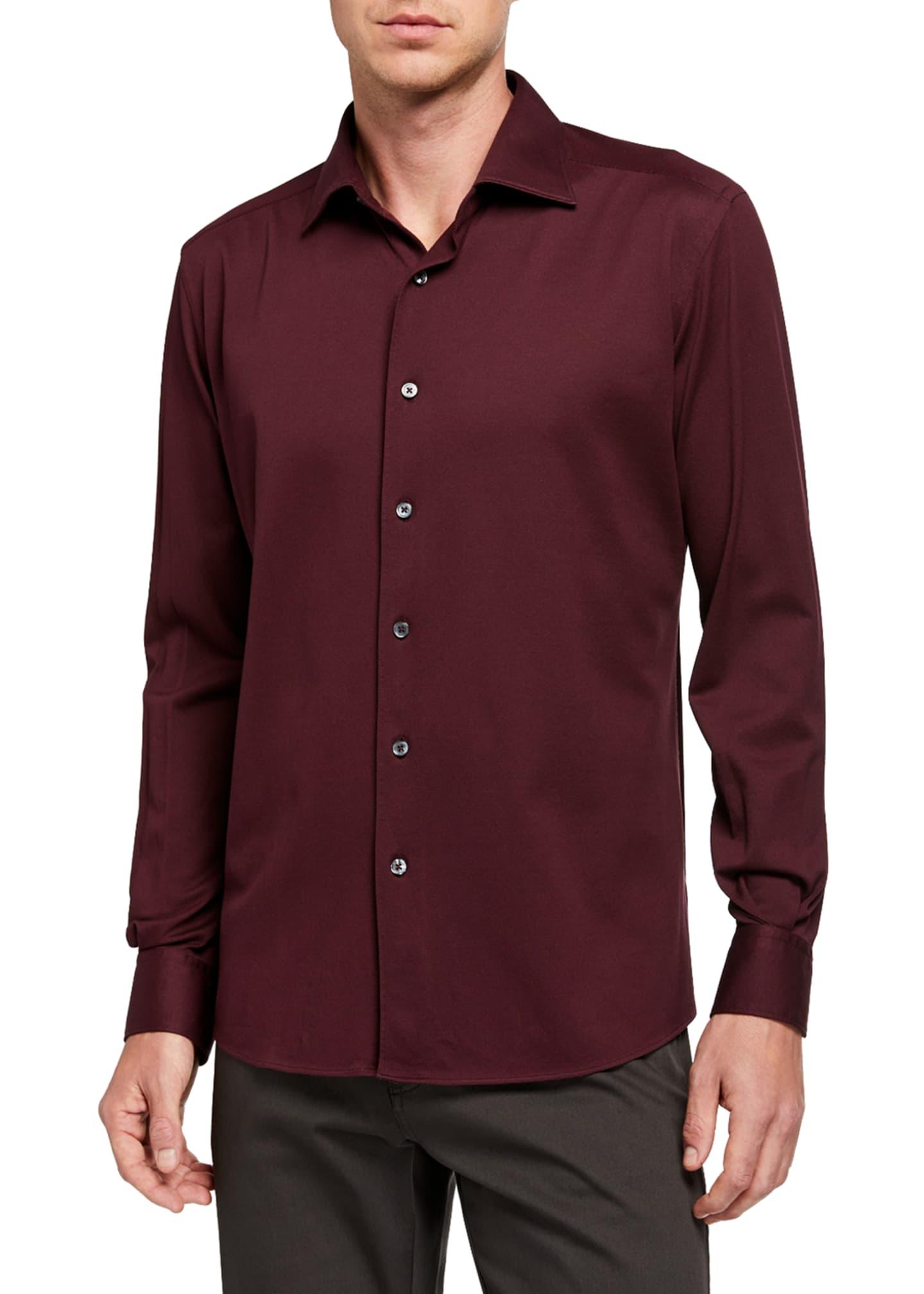 Ermenegildo Zegna Men's Cotton Jersey Sport Shirt