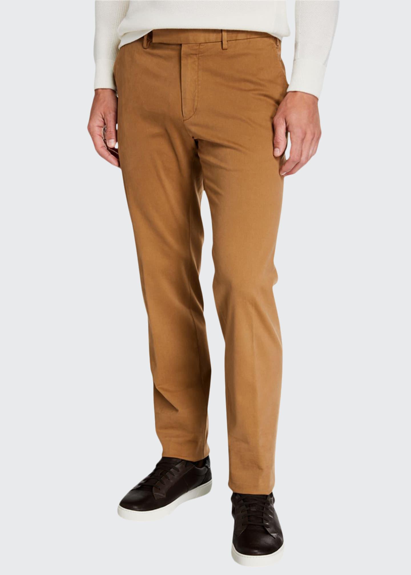 Ermenegildo Zegna Men's Garment-Dyed Tab Twill Pants