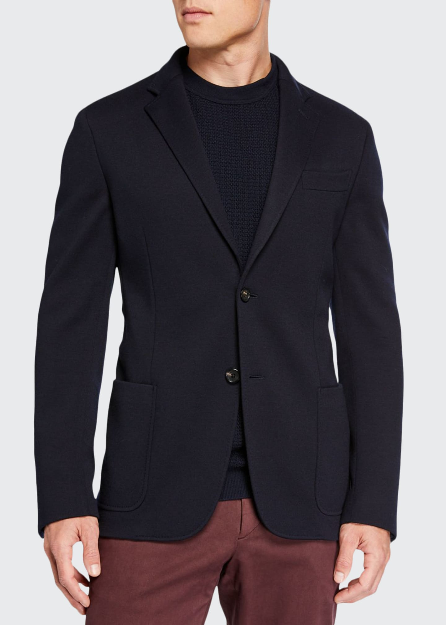 Ermenegildo Zegna Men's Regular-Fit Jersey Two-Button Jacket