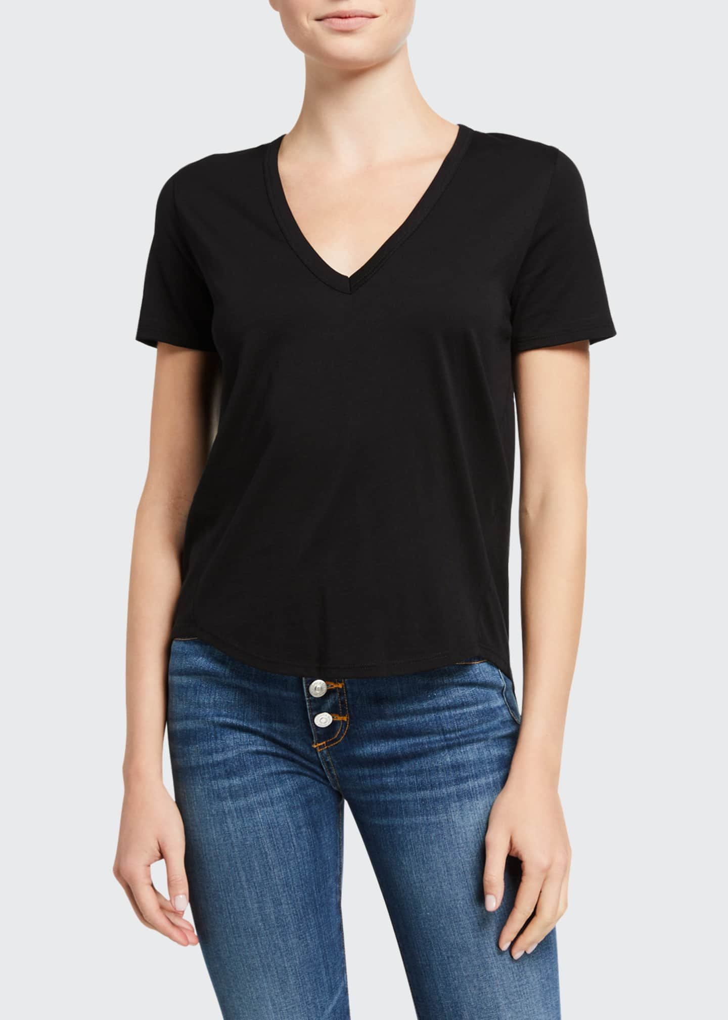 Image 2 of 5: Cindy V-Neck Short-Sleeve Tee