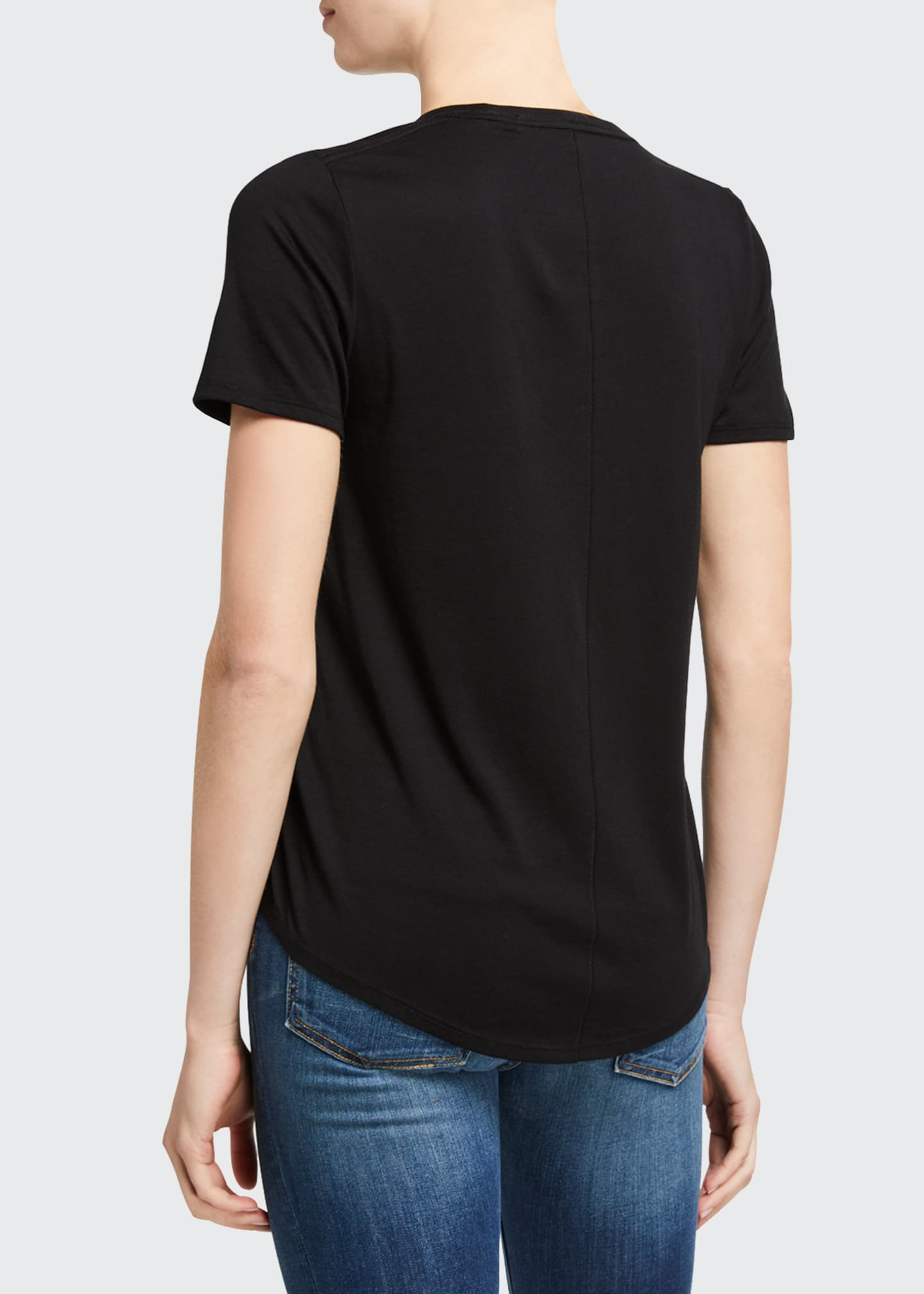 Image 3 of 5: Cindy V-Neck Short-Sleeve Tee