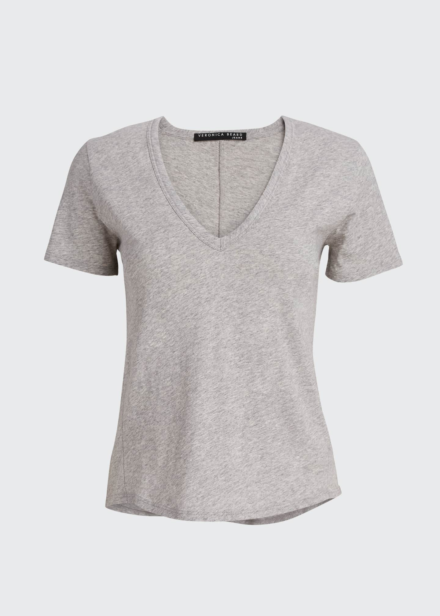 Image 5 of 5: Cindy V-Neck Short-Sleeve Tee
