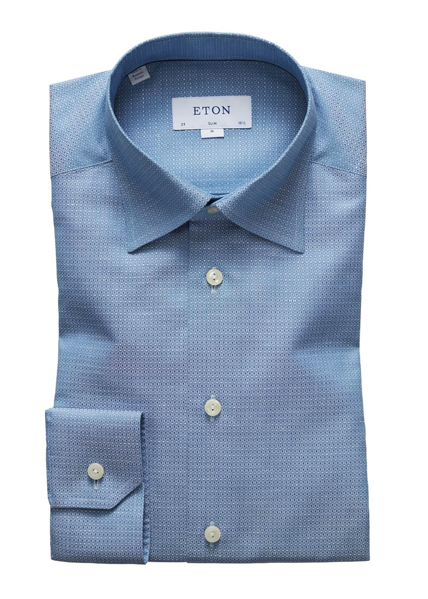 Eton Men's Textured Slim-Fit Dress Shirt