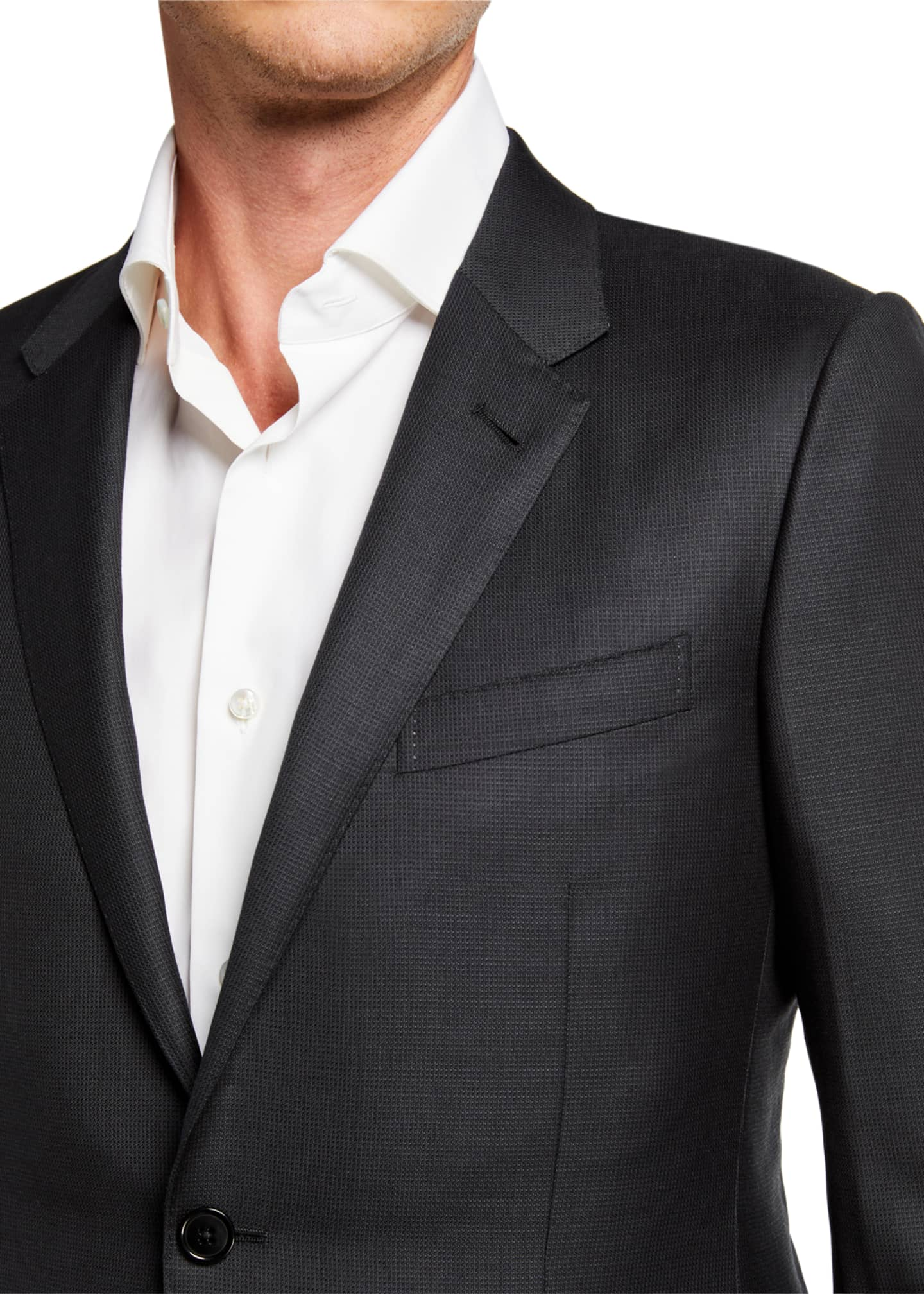 Image 4 of 4: Tic Wool Trim-Fit Suit
