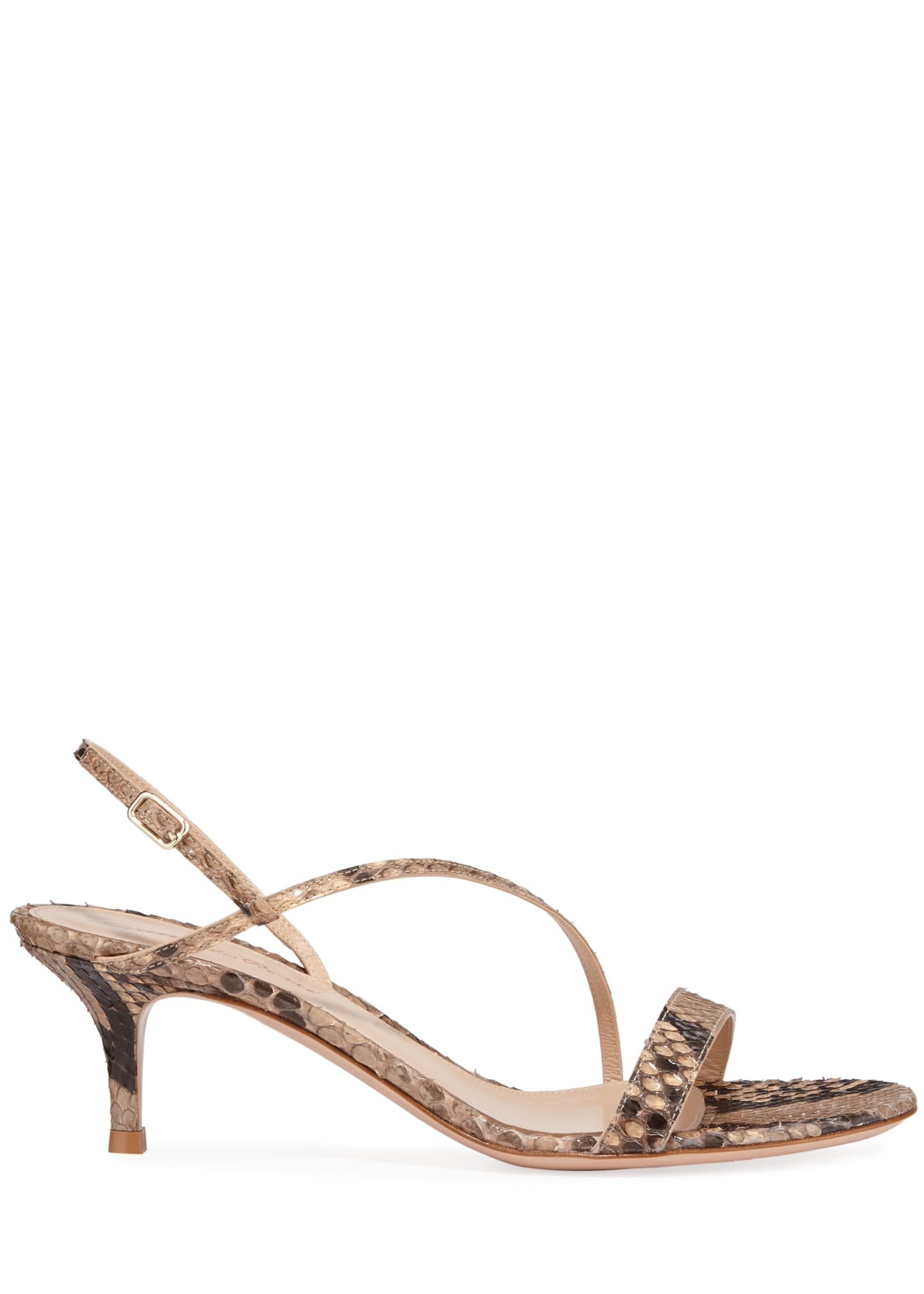 Image 2 of 3: Python Asymmetric Slingback Sandals
