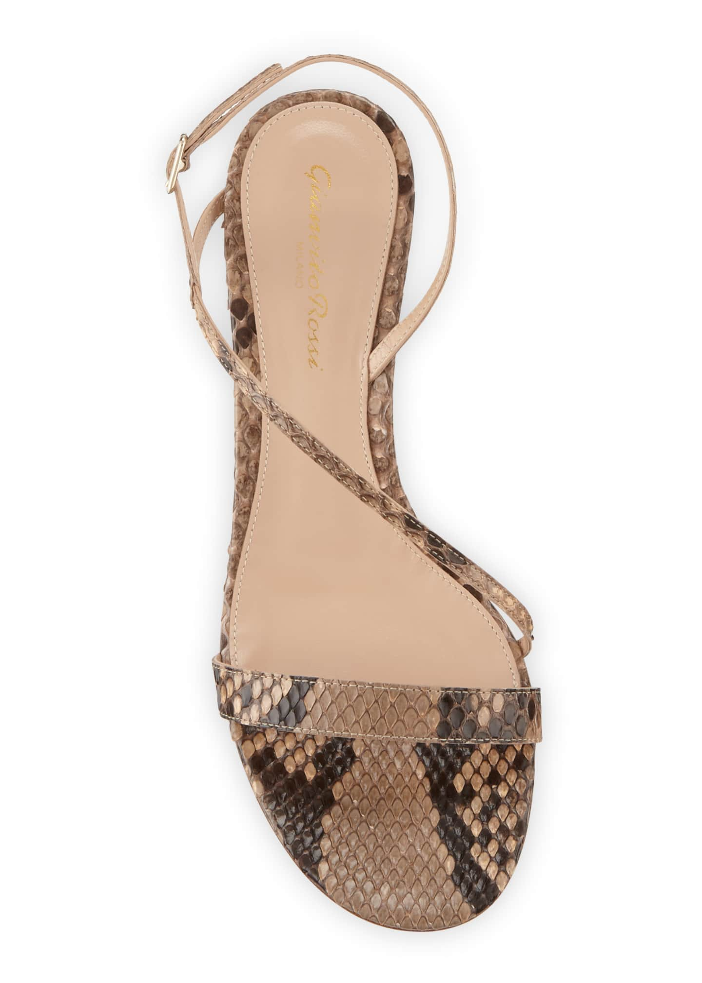 Image 3 of 3: Python Asymmetric Slingback Sandals