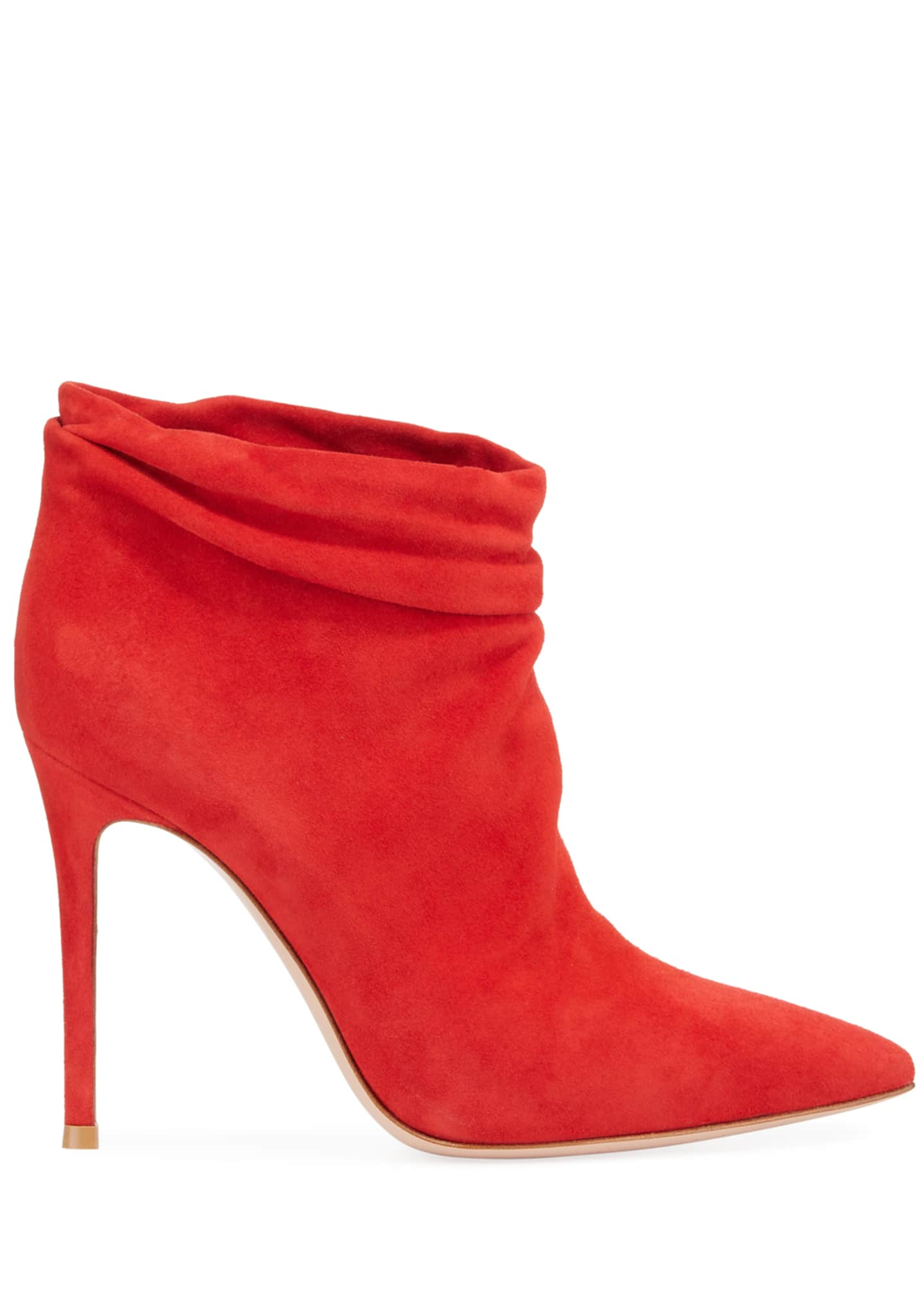 Image 2 of 3: Slouchy Suede Ankle Booties