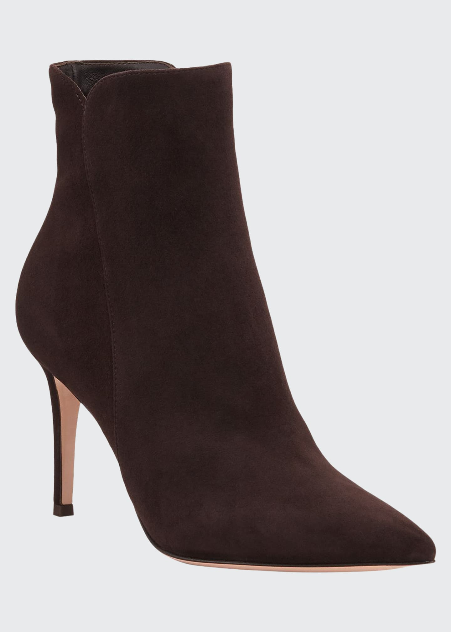 Gianvito Rossi Levy Suede 85mm Point-Toe Booties
