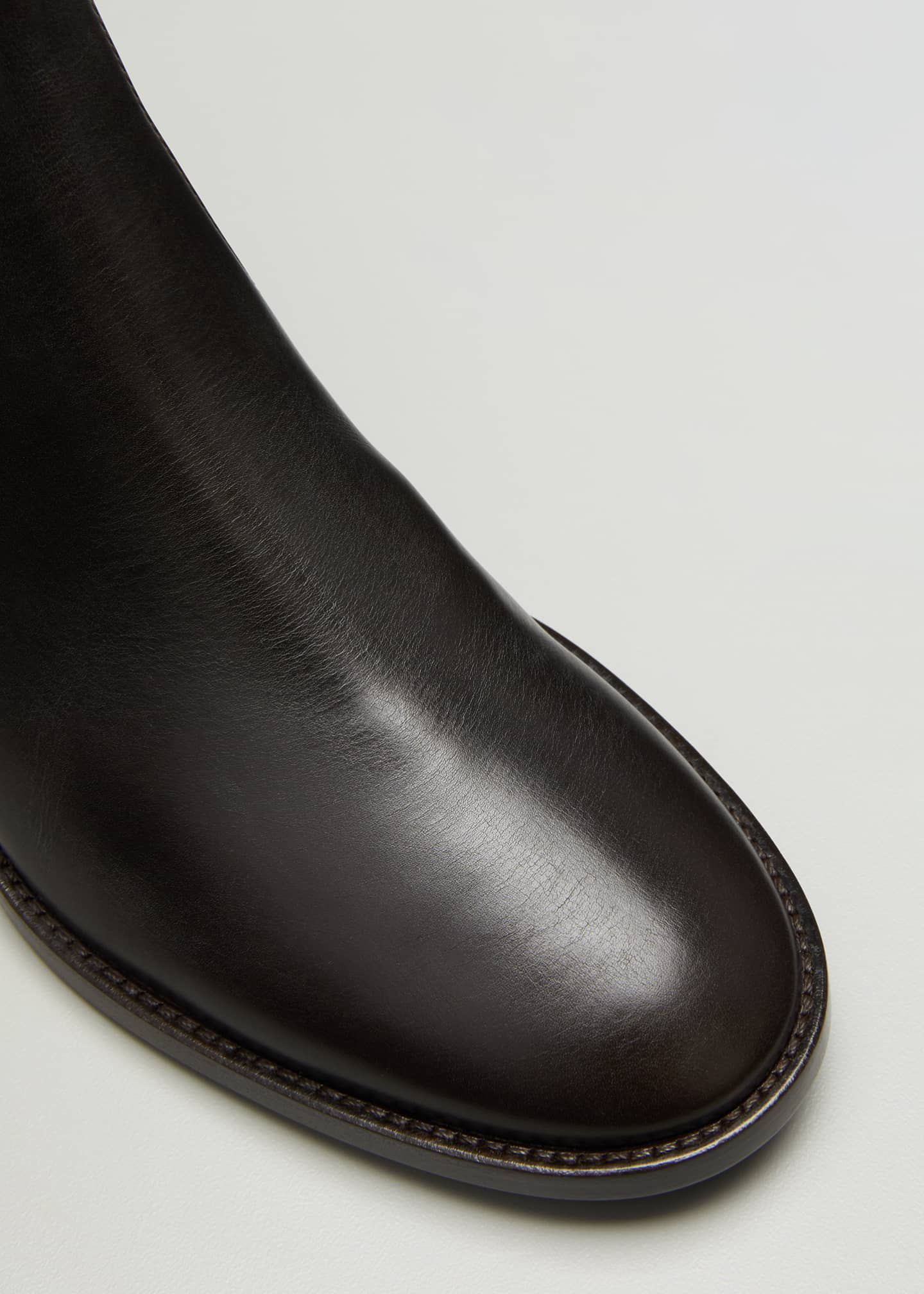 Image 3 of 3: Tall Soft Leather Knee Boots