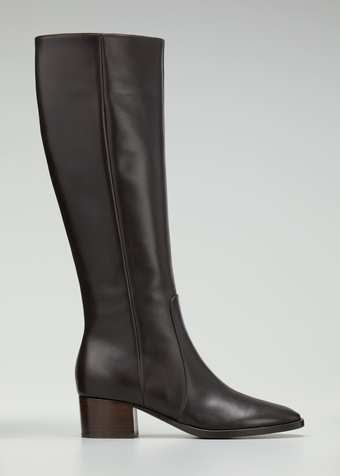 Image 1 of 3: Tall Soft Leather Knee Boots