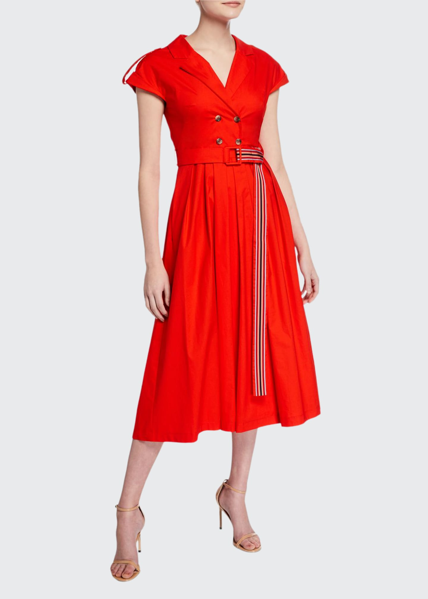 Lela Rose Double Breasted Shirtdress
