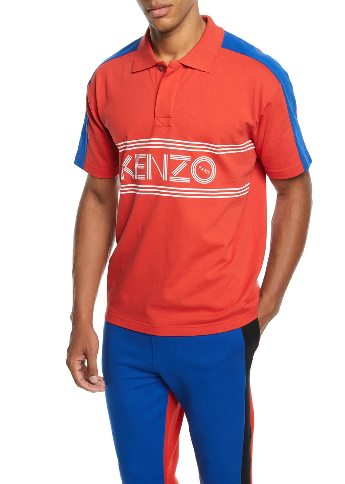 Kenzo Men's E Skate Colorblock Polo Shirt