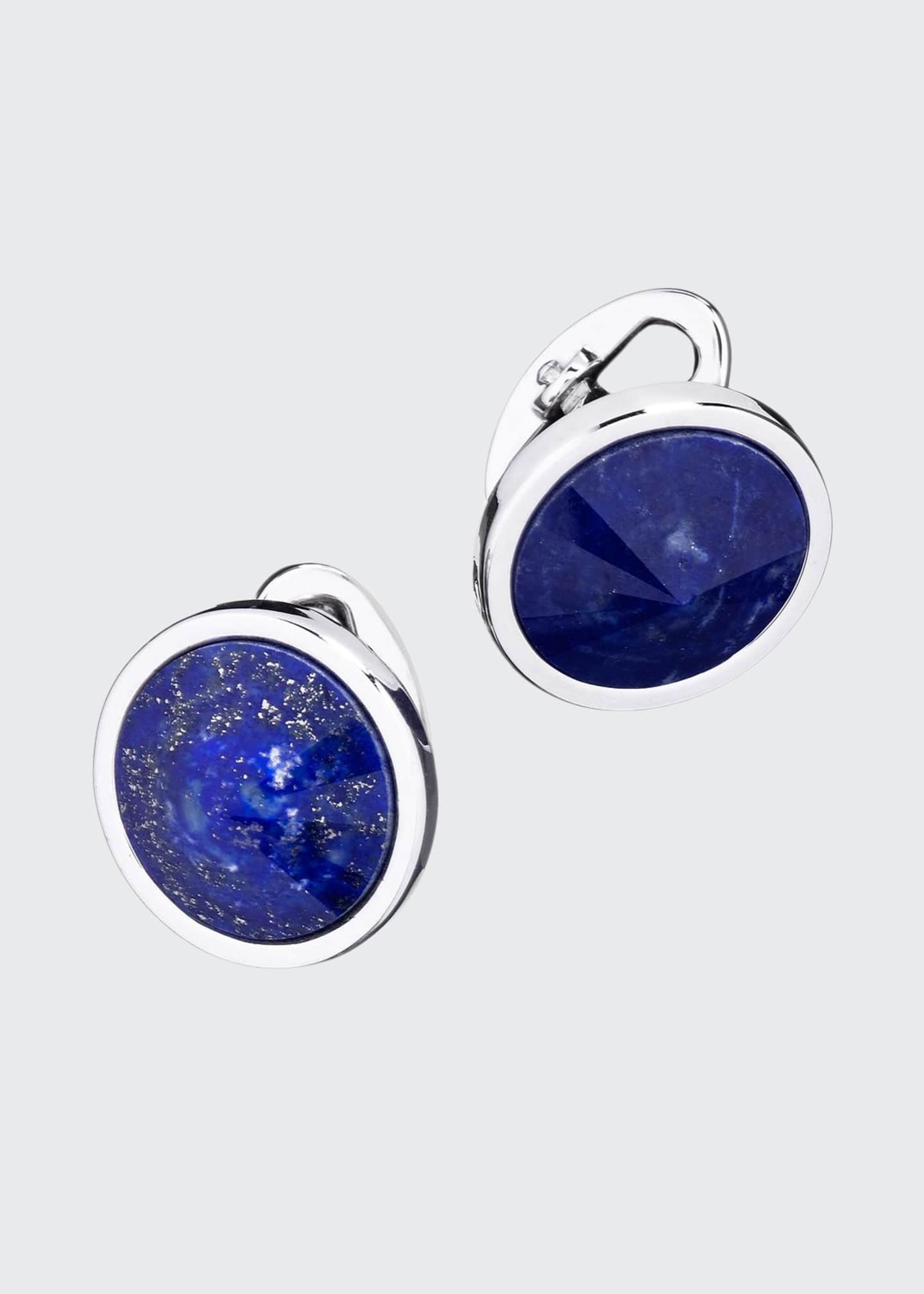 Jan Leslie Pyramid Sphere Cuff Links with Lapis