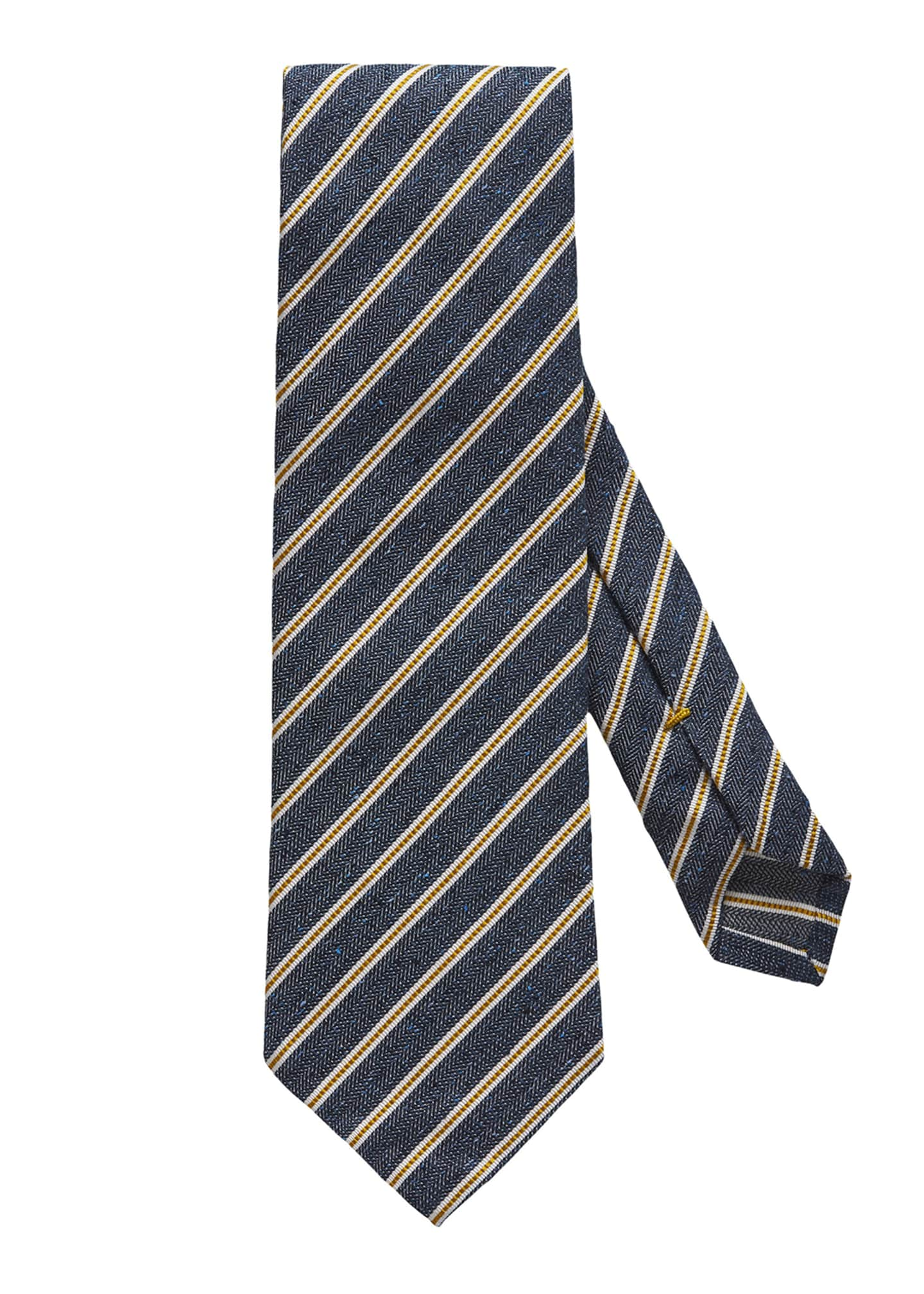 Eton Men's Striped Silk & Cotton Tie
