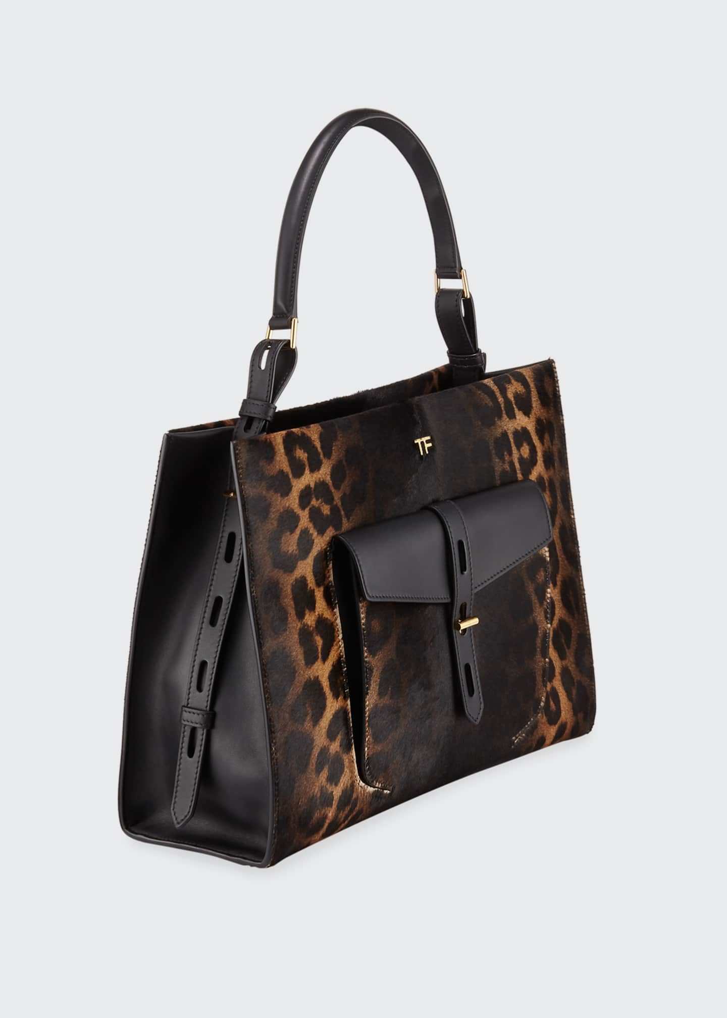 Image 2 of 4: Rialto Medium Leopard Top-Handle Bag