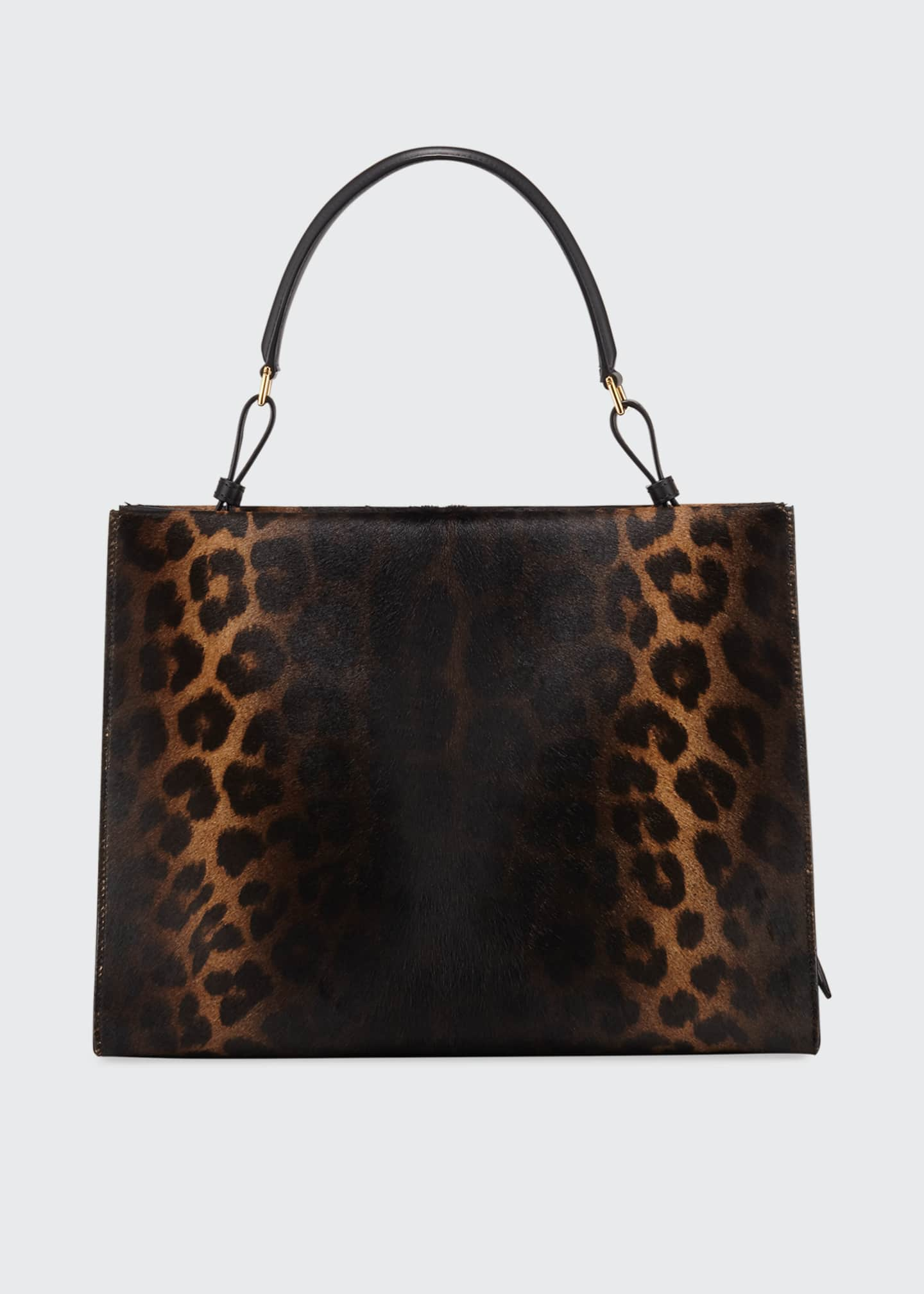Image 3 of 4: Rialto Medium Leopard Top-Handle Bag