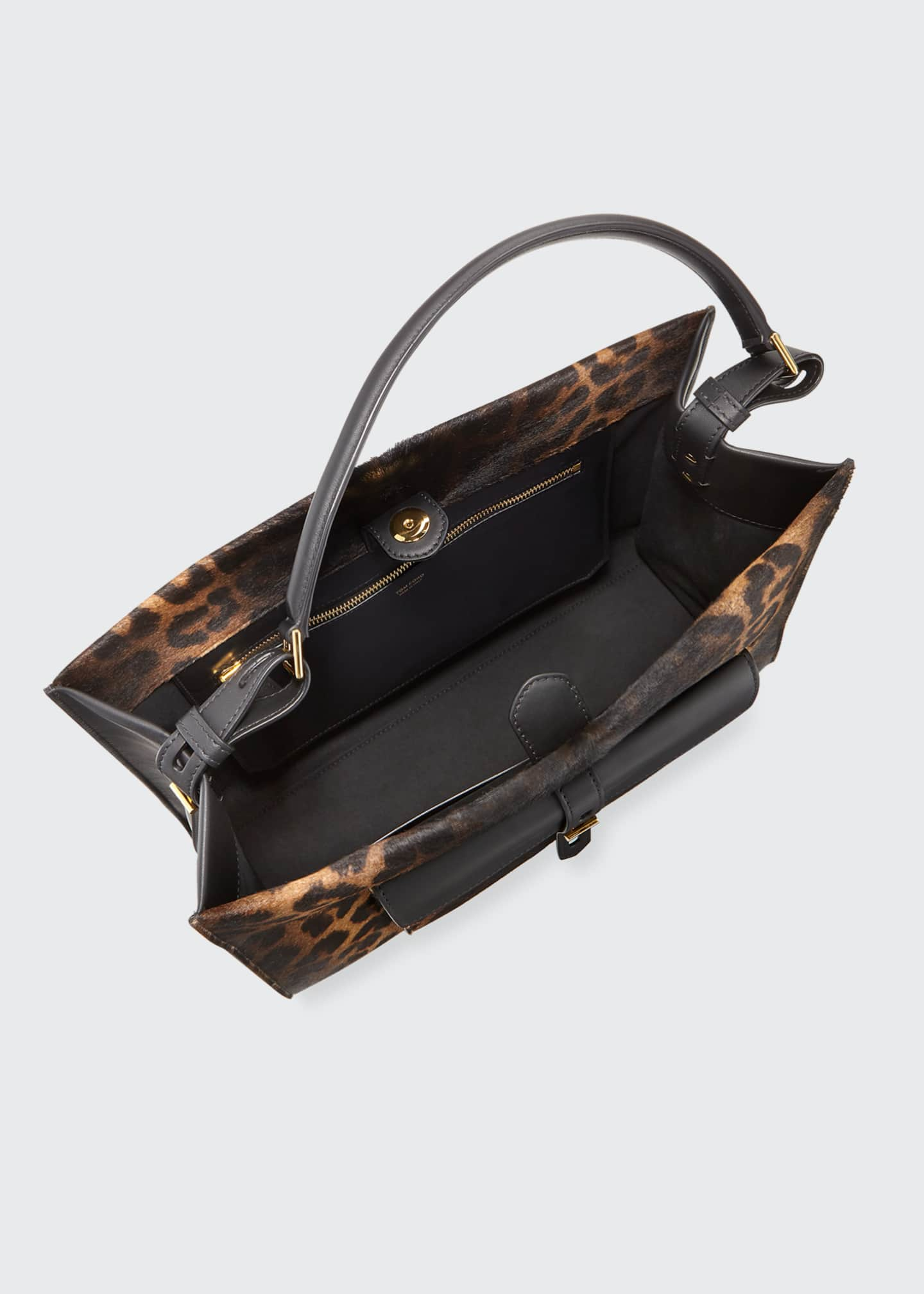 Image 4 of 4: Rialto Medium Leopard Top-Handle Bag