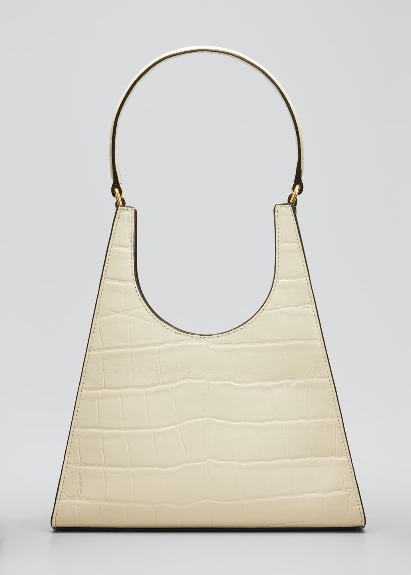 Image 1 of 5: Rey Croc-Embossed Hobo Bag