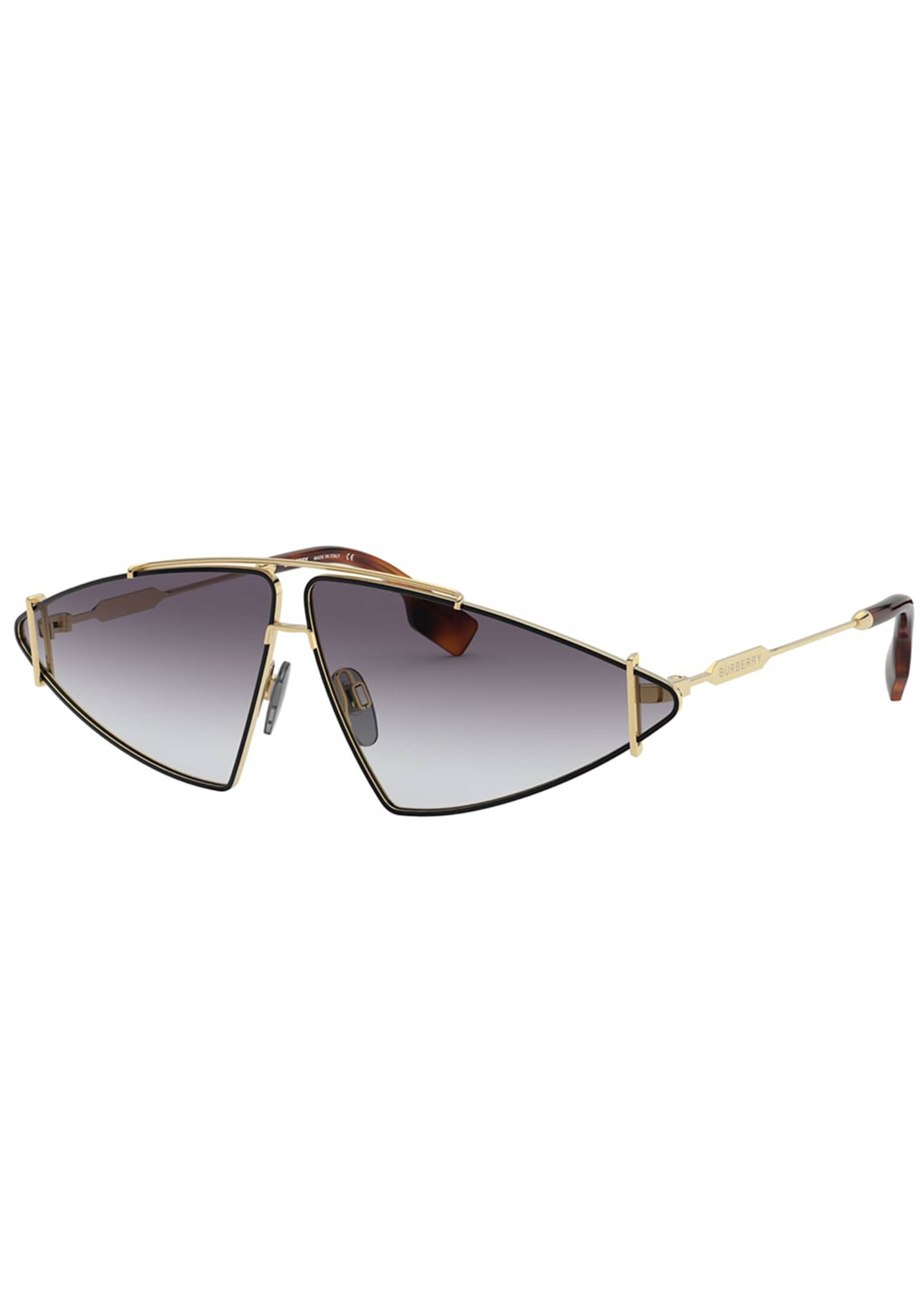 Burberry Metal Triangle Shield Sunglasses