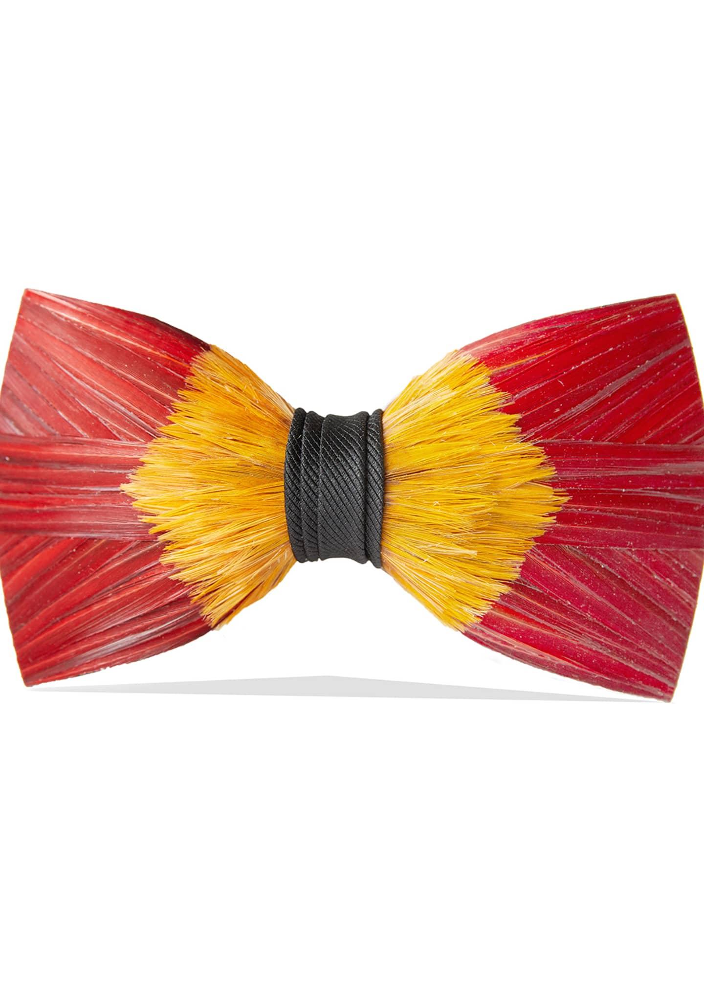 Brackish Bowties Starfire Feather Formal Bow Tie