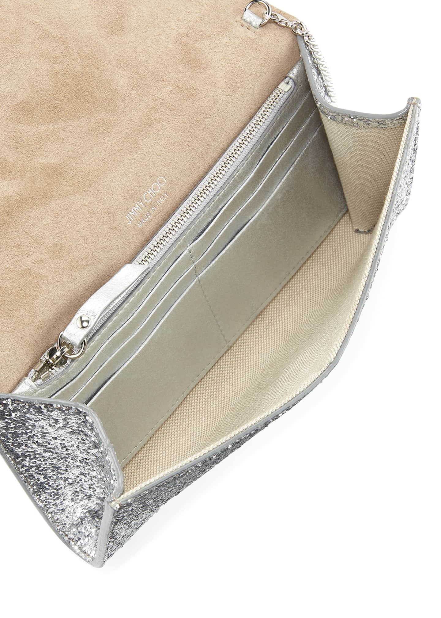 Image 2 of 3: Emmie Glittered Leather Clutch Bag