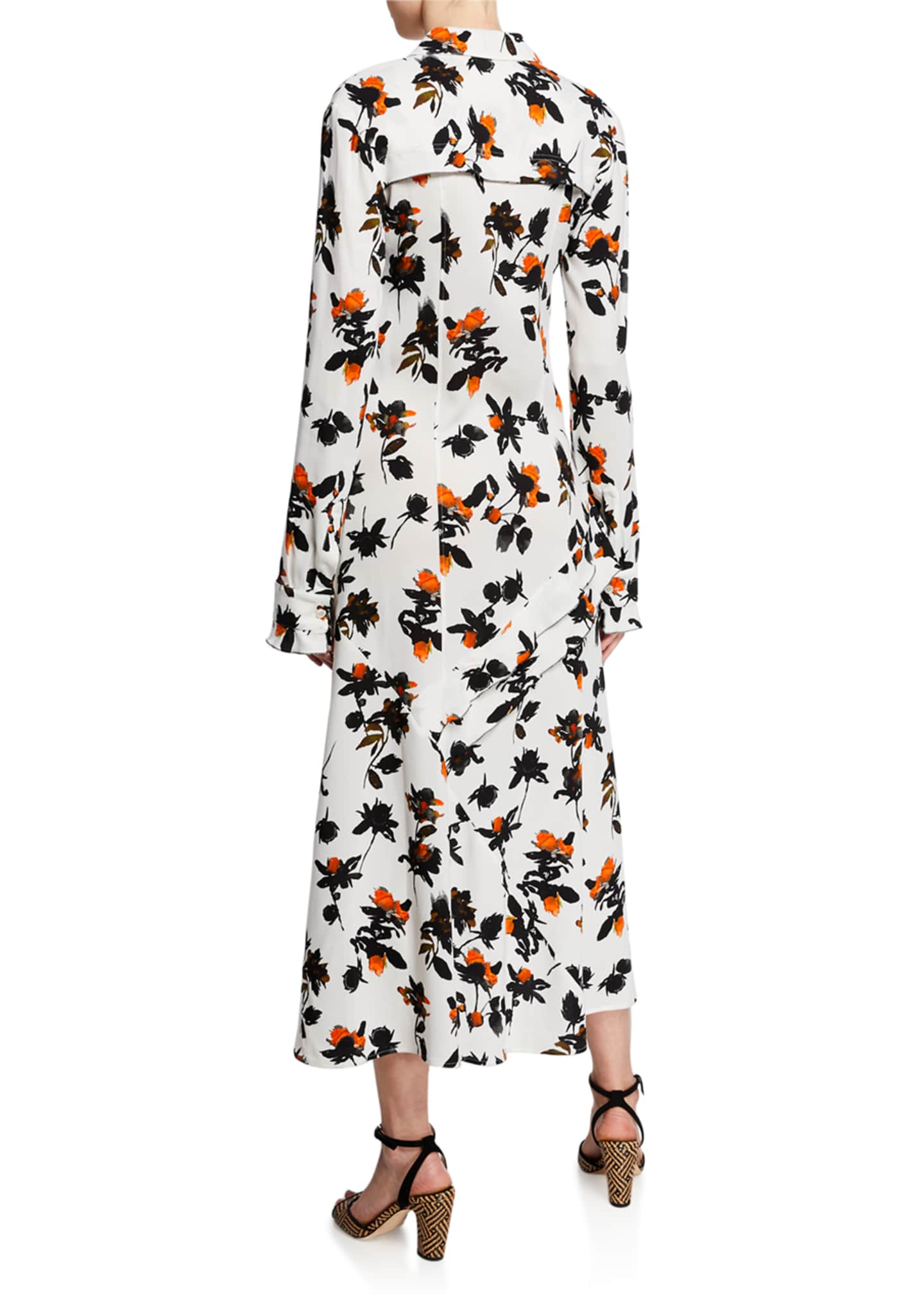 Image 2 of 2: Floating Floral Long-Sleeve Dress