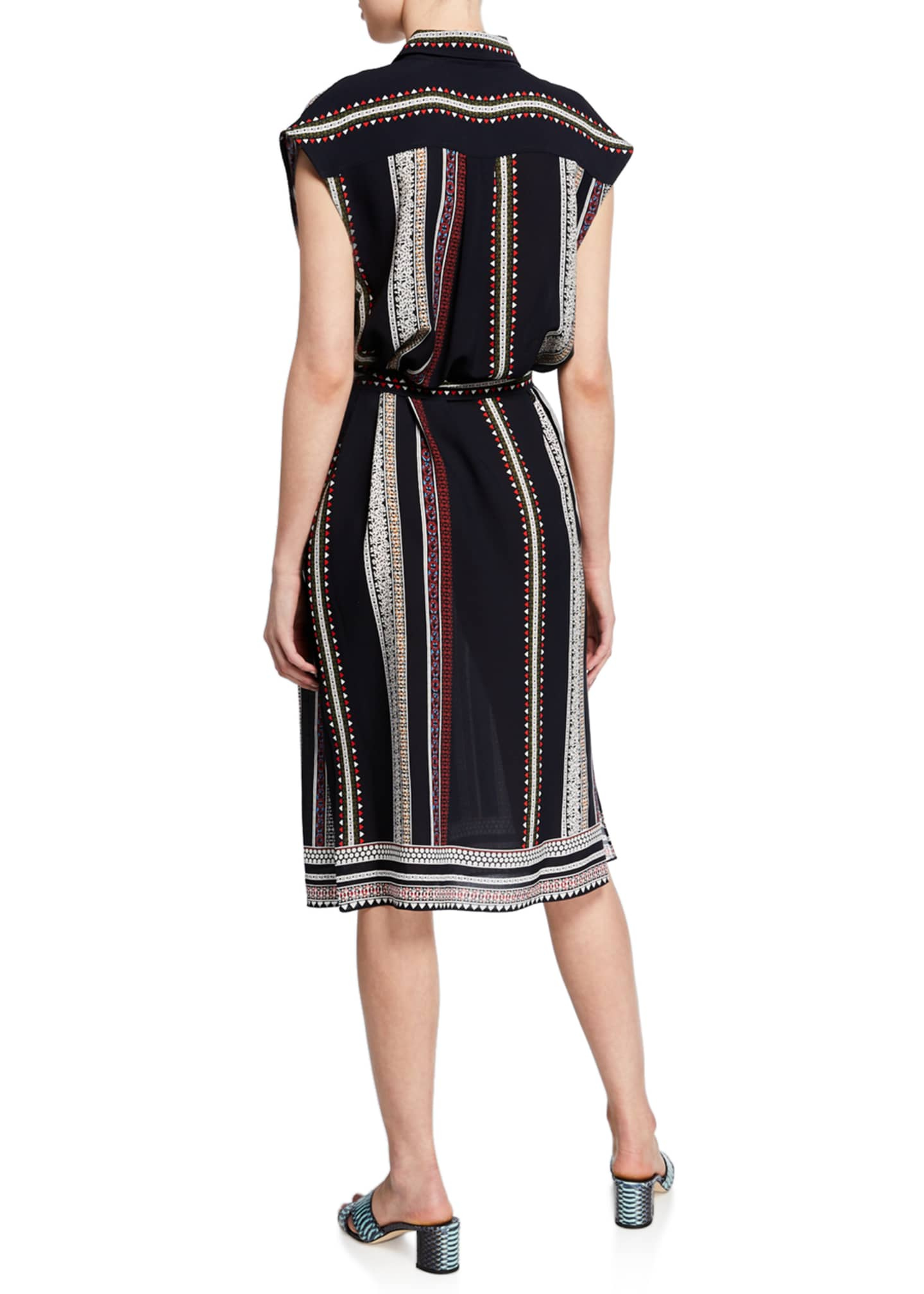 Image 2 of 2: Sleeveless Provincial Striped Dress