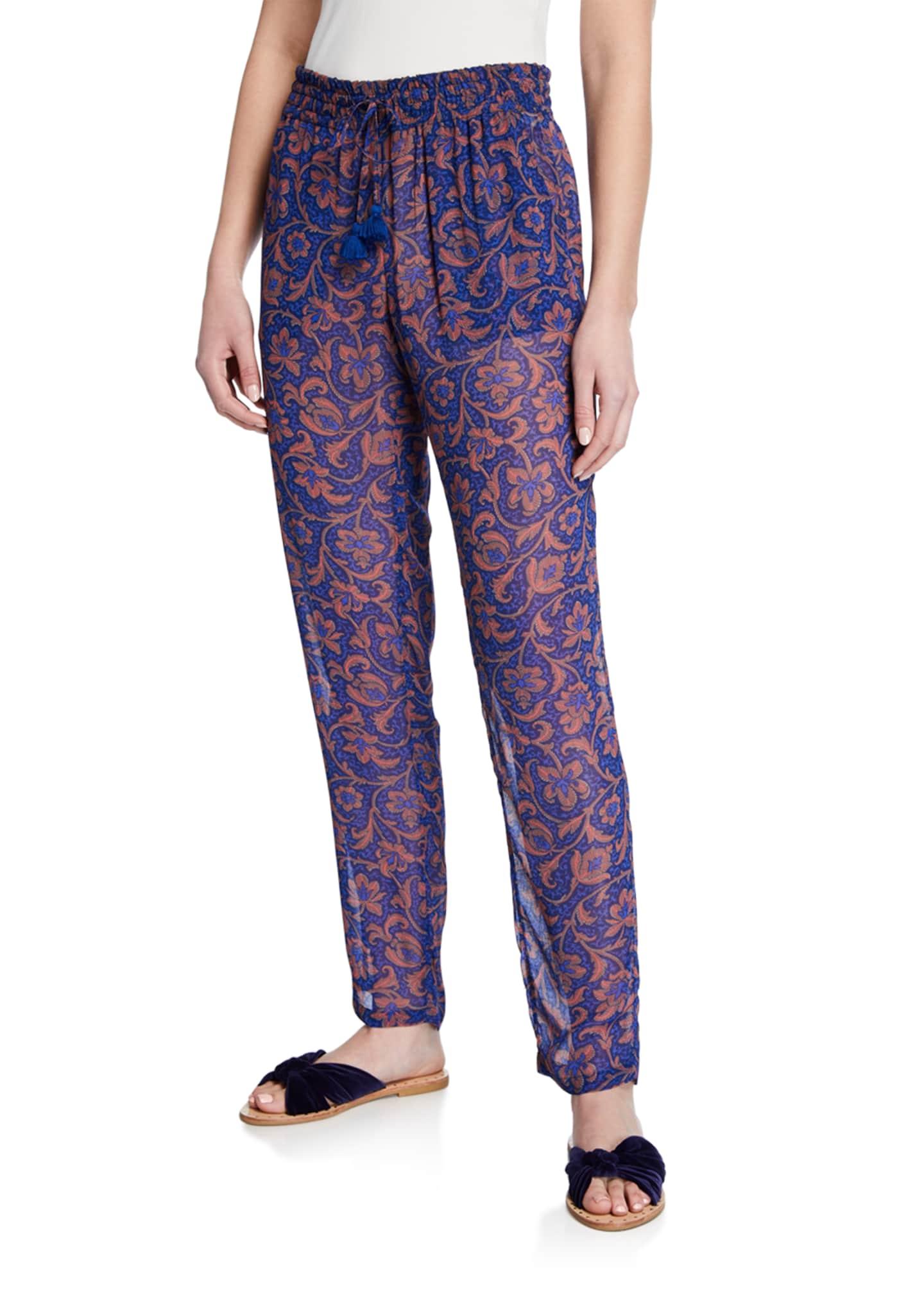 Figue Alexa Printed Semisheer Pants