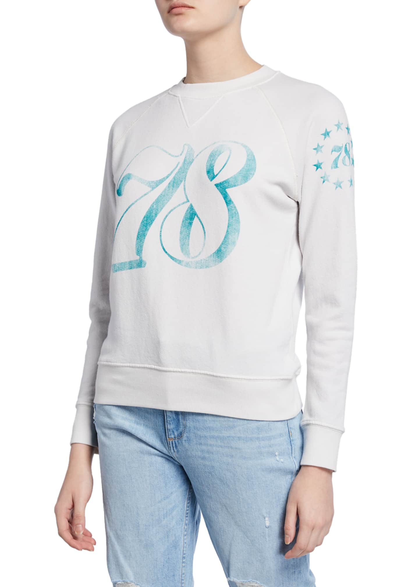 MOTHER The Square 78 Printed Sweatshirt