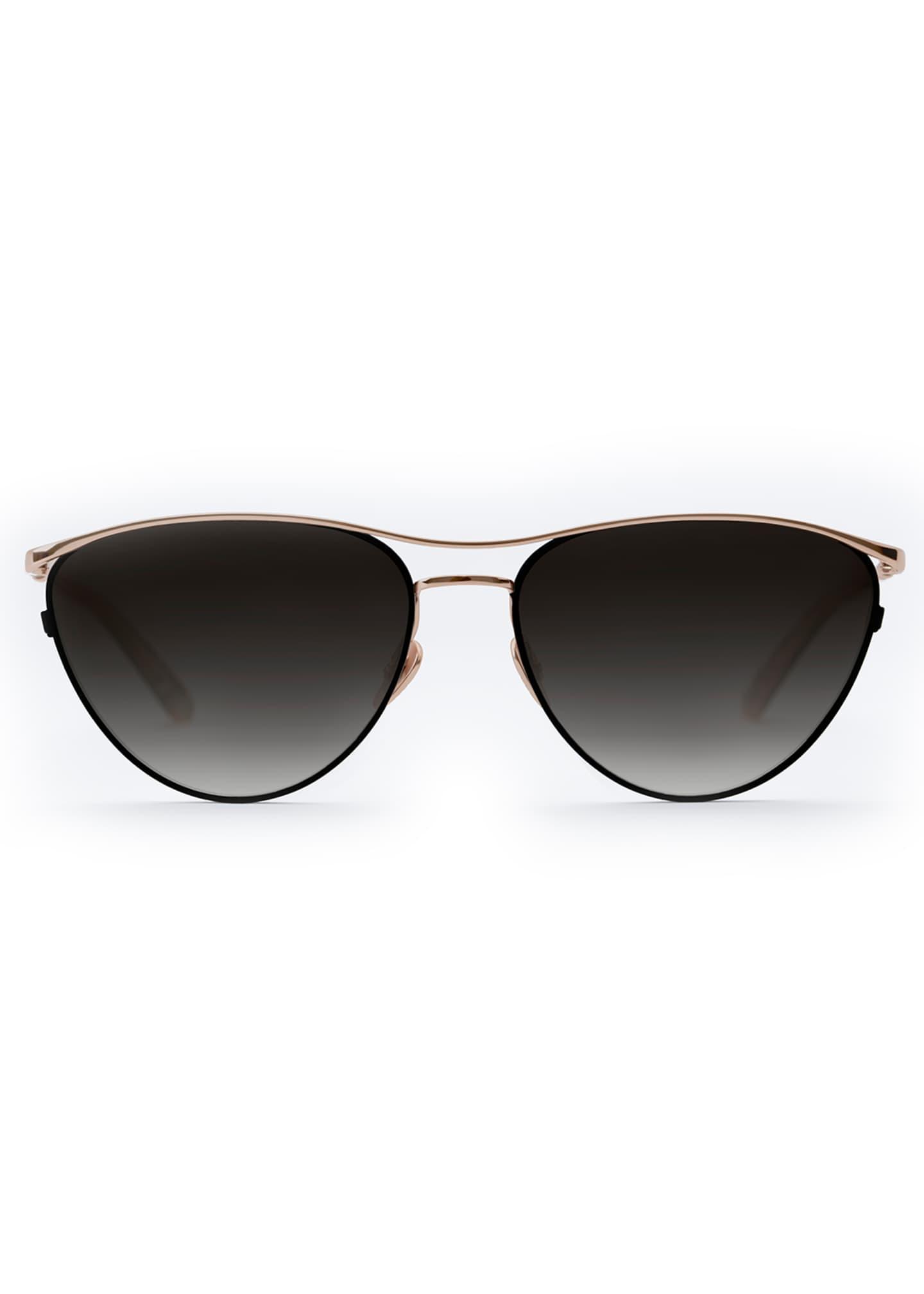 KREWE Cohn Titanium/Acetate Cat-Eye Sunglasses