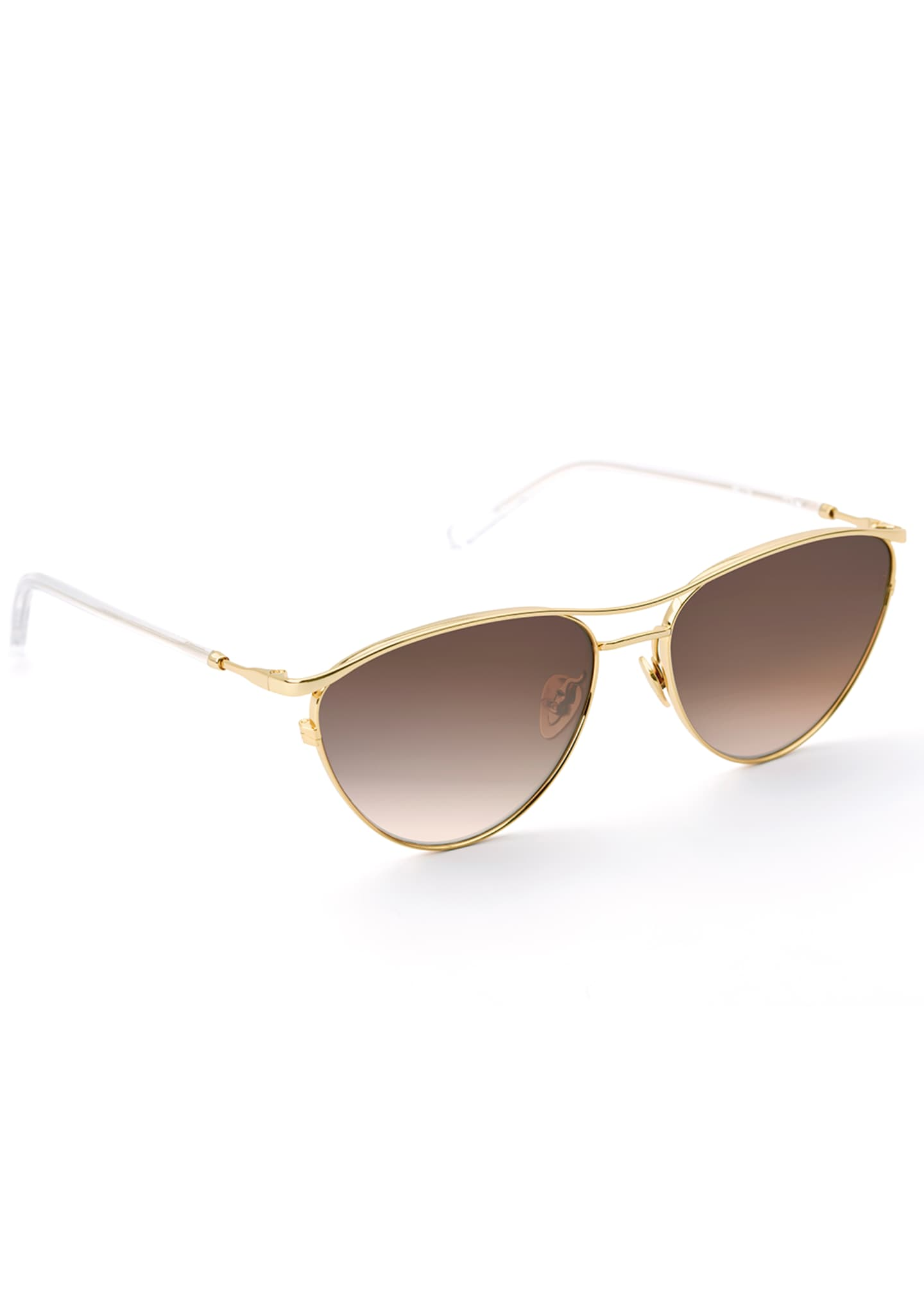KREWE Cohn Titanium/Clear Acetate Cat-Eye Sunglasses