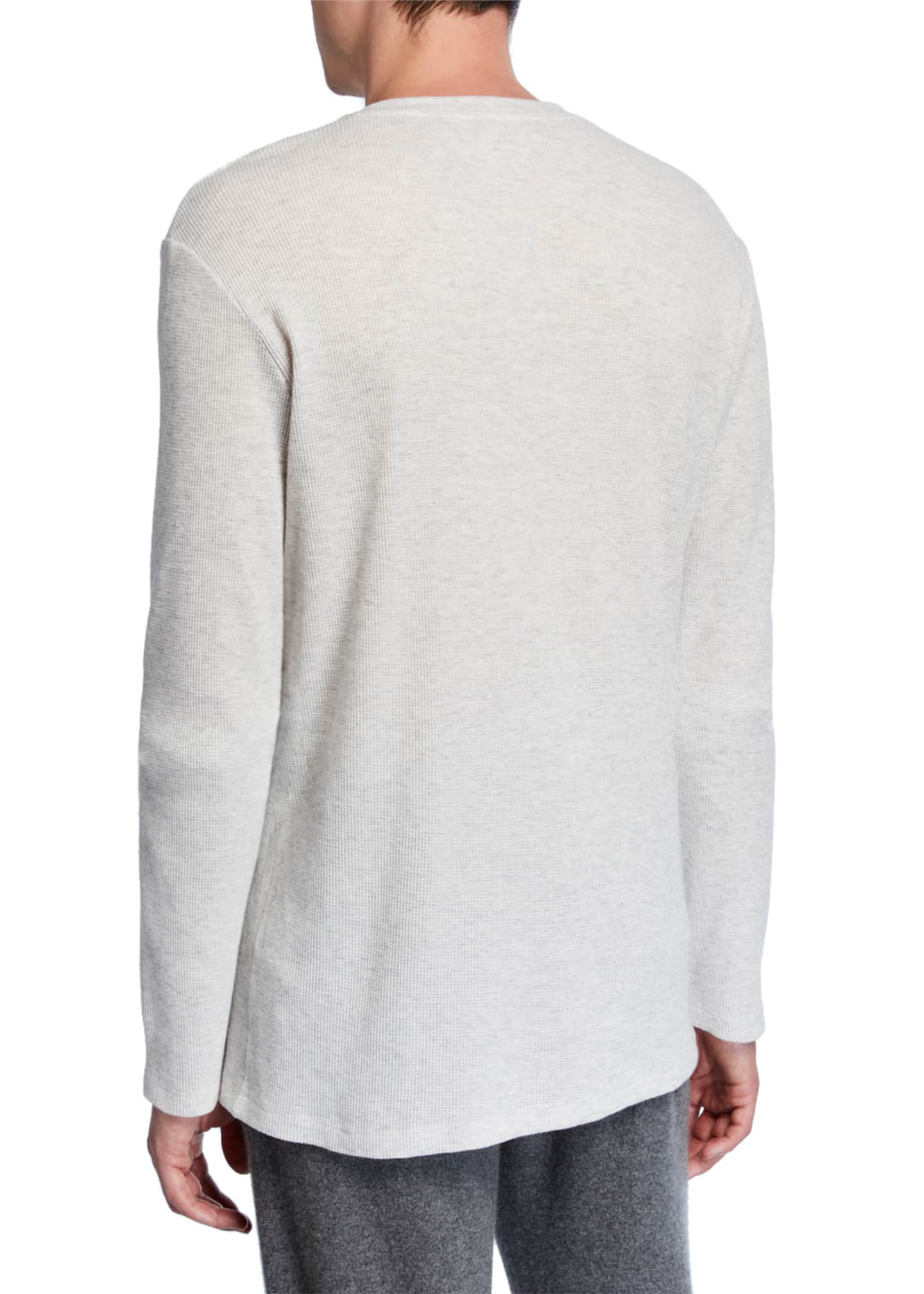 Image 2 of 2: Men's Waffle-Knit Henley Shirt